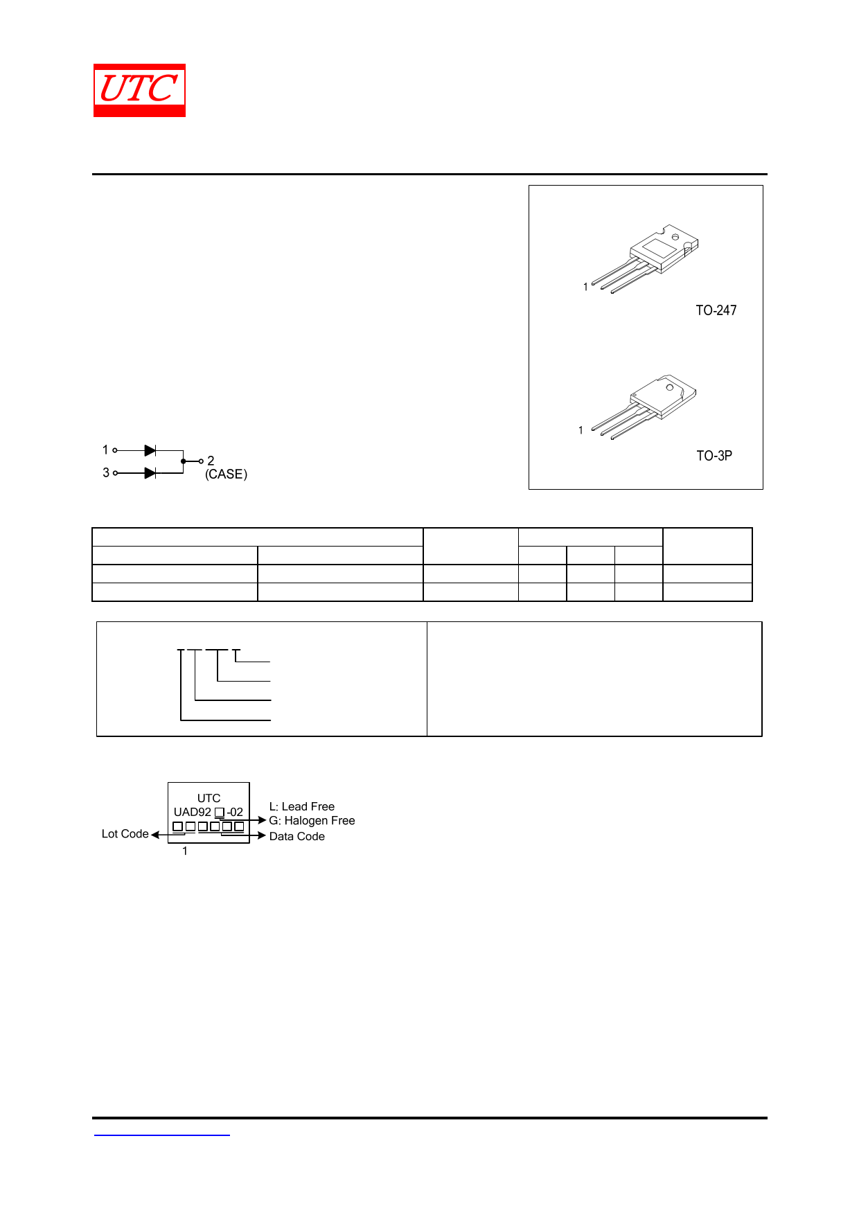 UAD92 datasheet, circuit