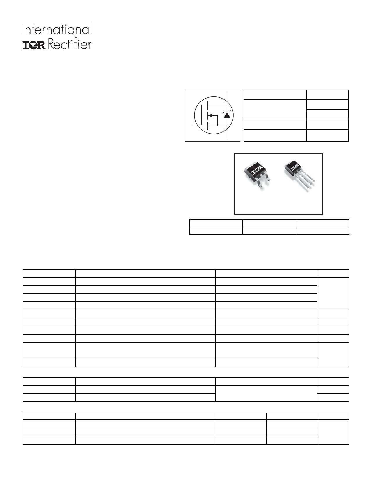 IRLU3636PBF 데이터시트 및 IRLU3636PBF PDF