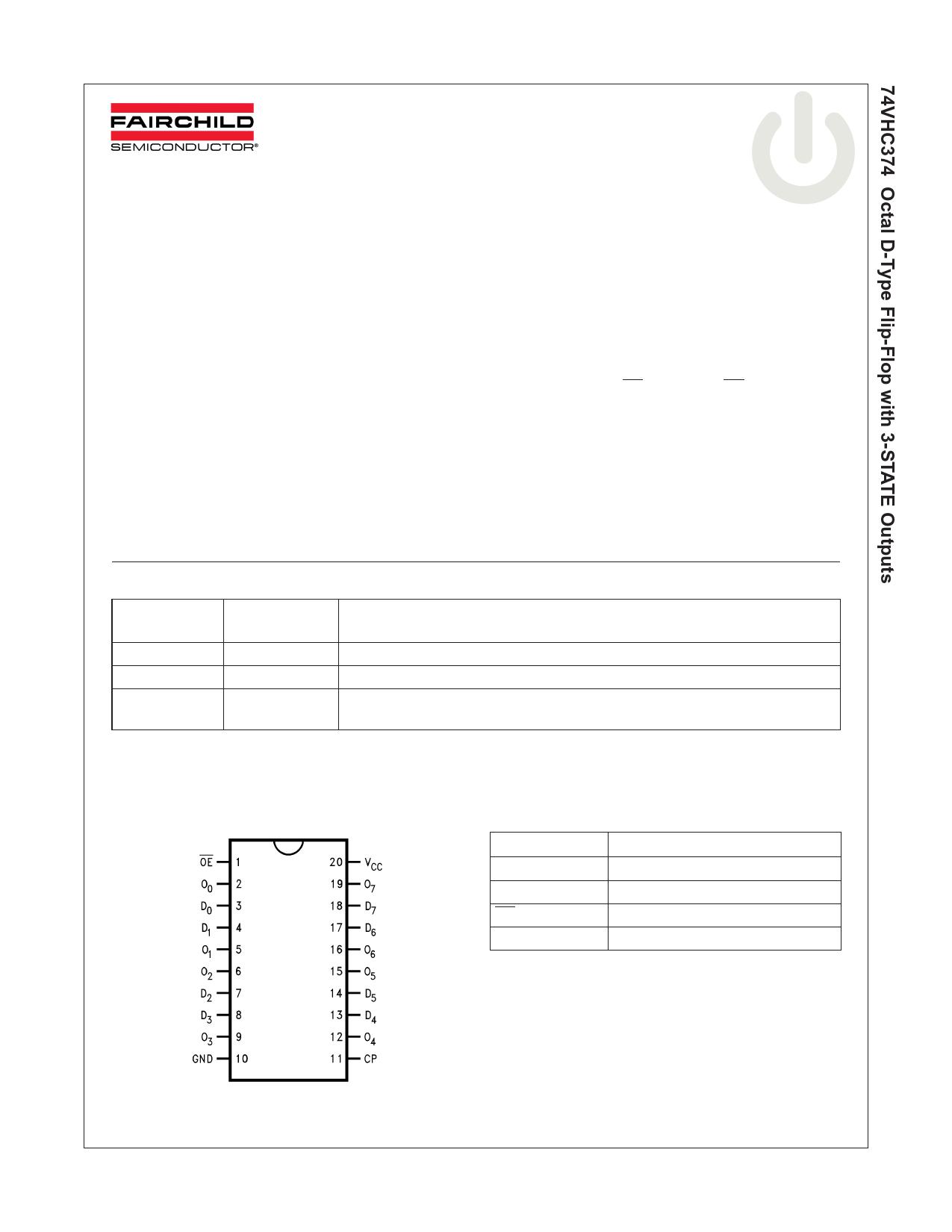 74VHC374 دیتاشیت PDF