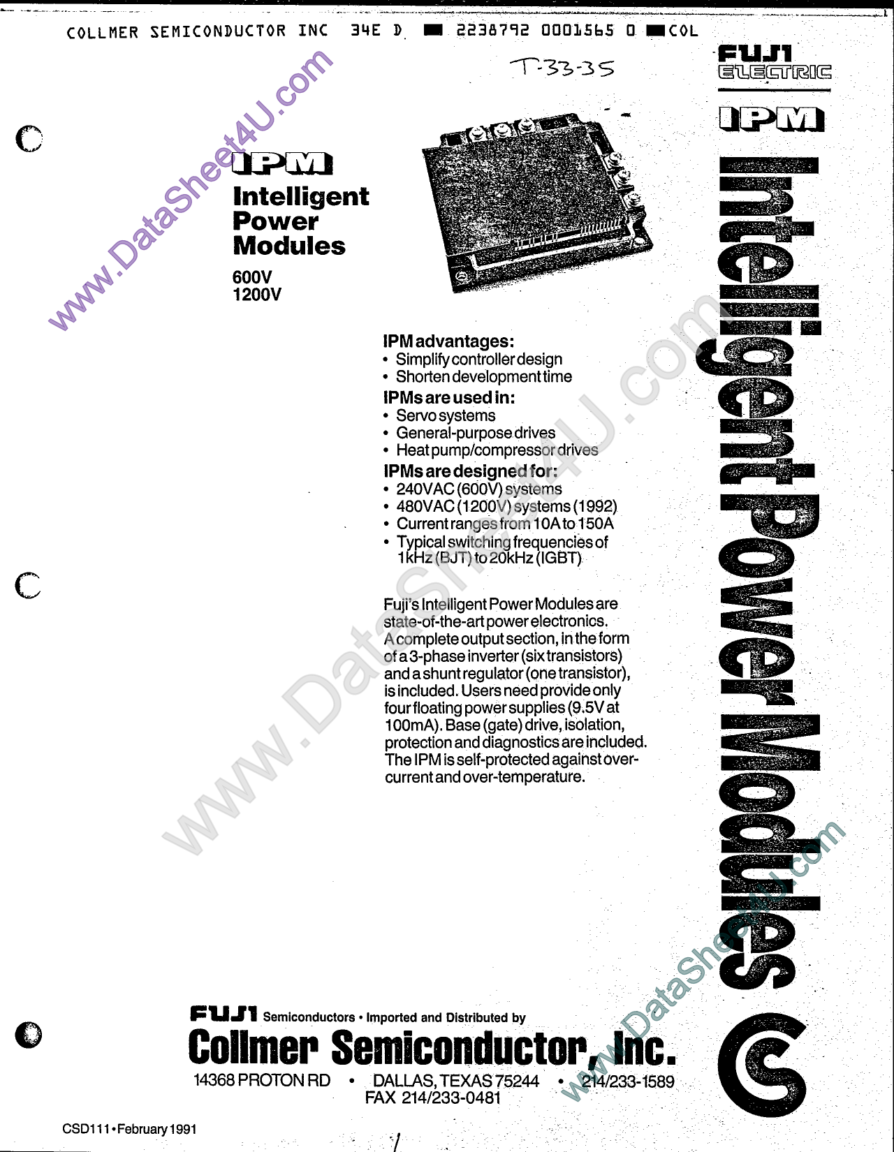 7D50A-050EHR دیتاشیت PDF