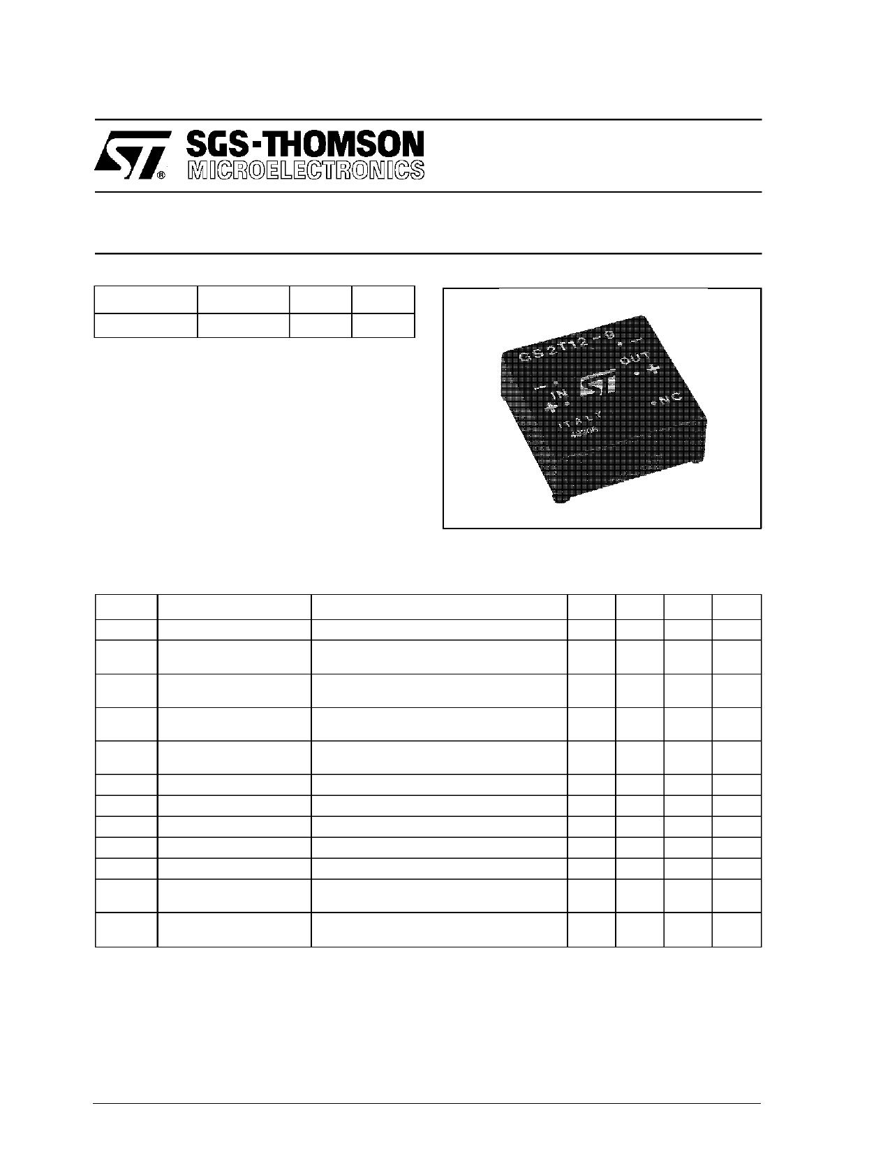 GS2T12-9 datasheet