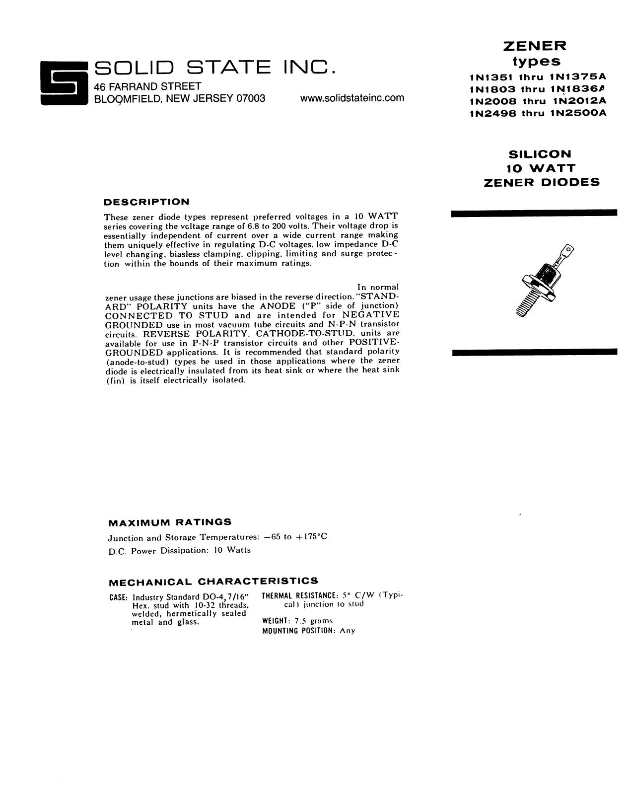 1N2012 دیتاشیت PDF