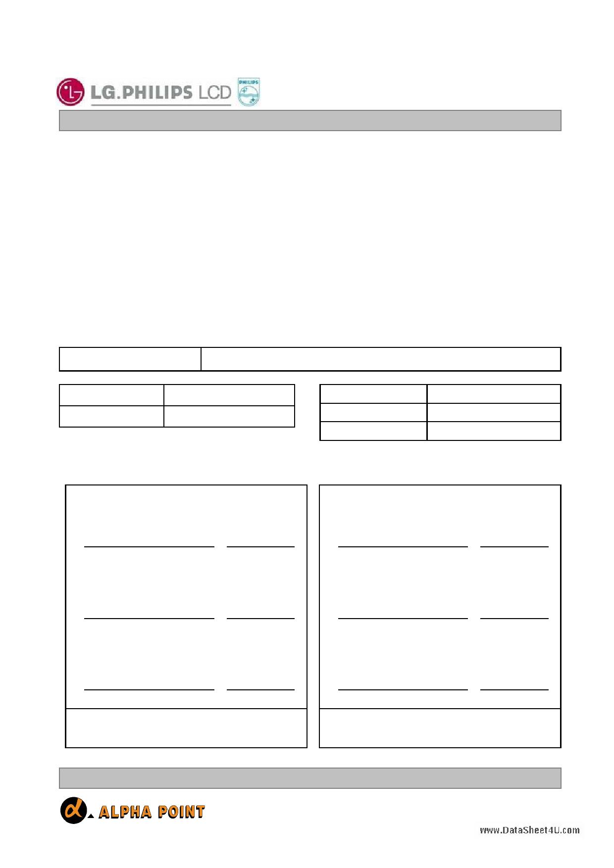 LC420W01 دیتاشیت PDF