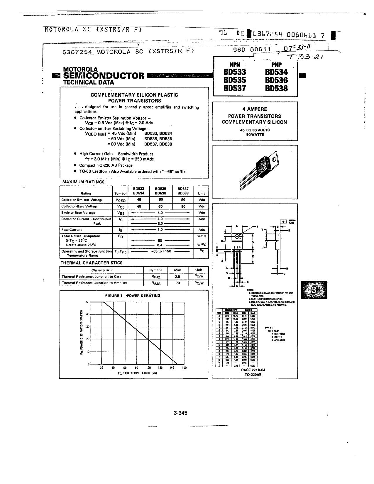 bd535 datasheet pdf   pinout