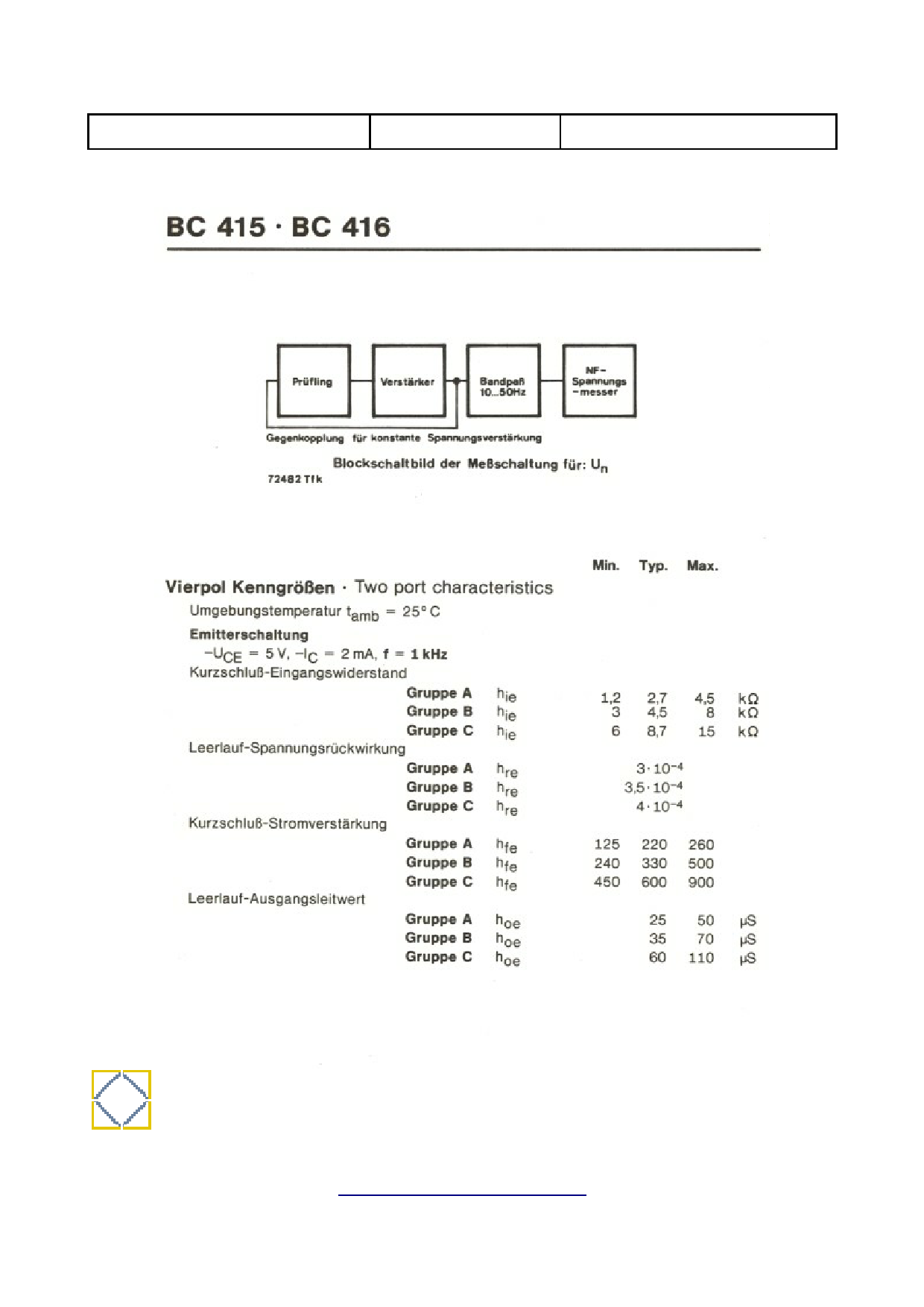 BC416 pdf, 반도체, 판매, 대치품