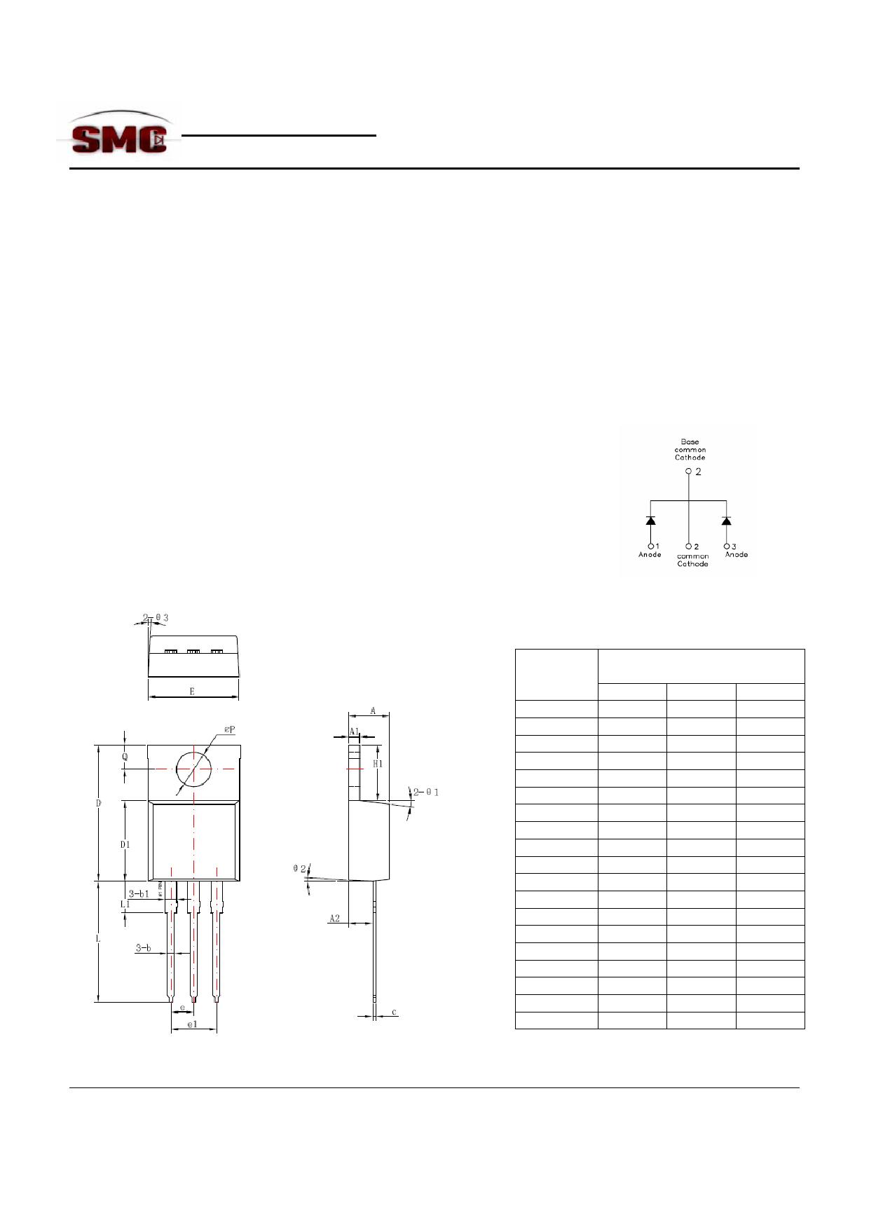 MBR3060CTP Datasheet, MBR3060CTP PDF,ピン配置, 機能