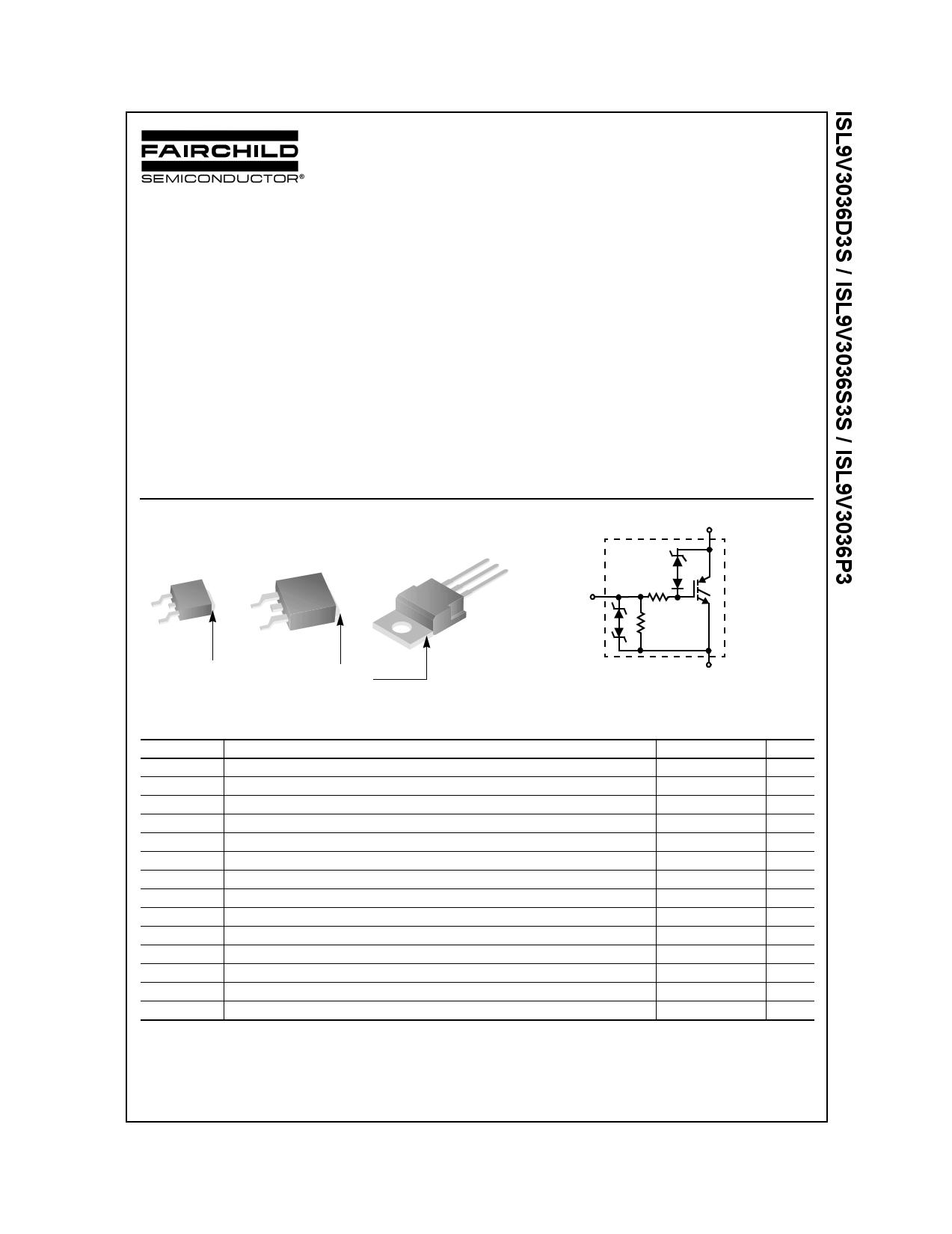 ISL9V3036D3S 데이터시트 및 ISL9V3036D3S PDF