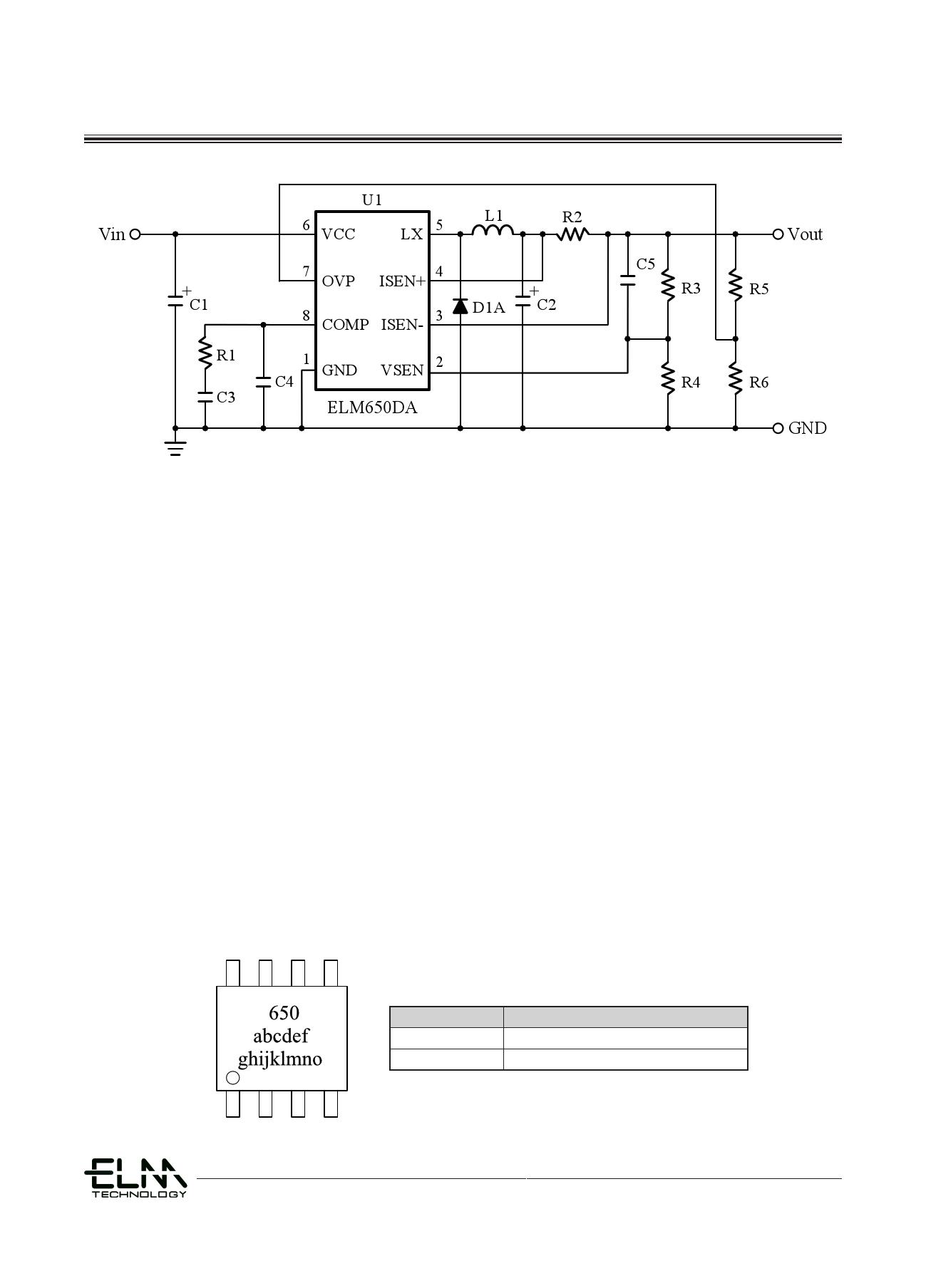 ELM650DA pdf, ピン配列