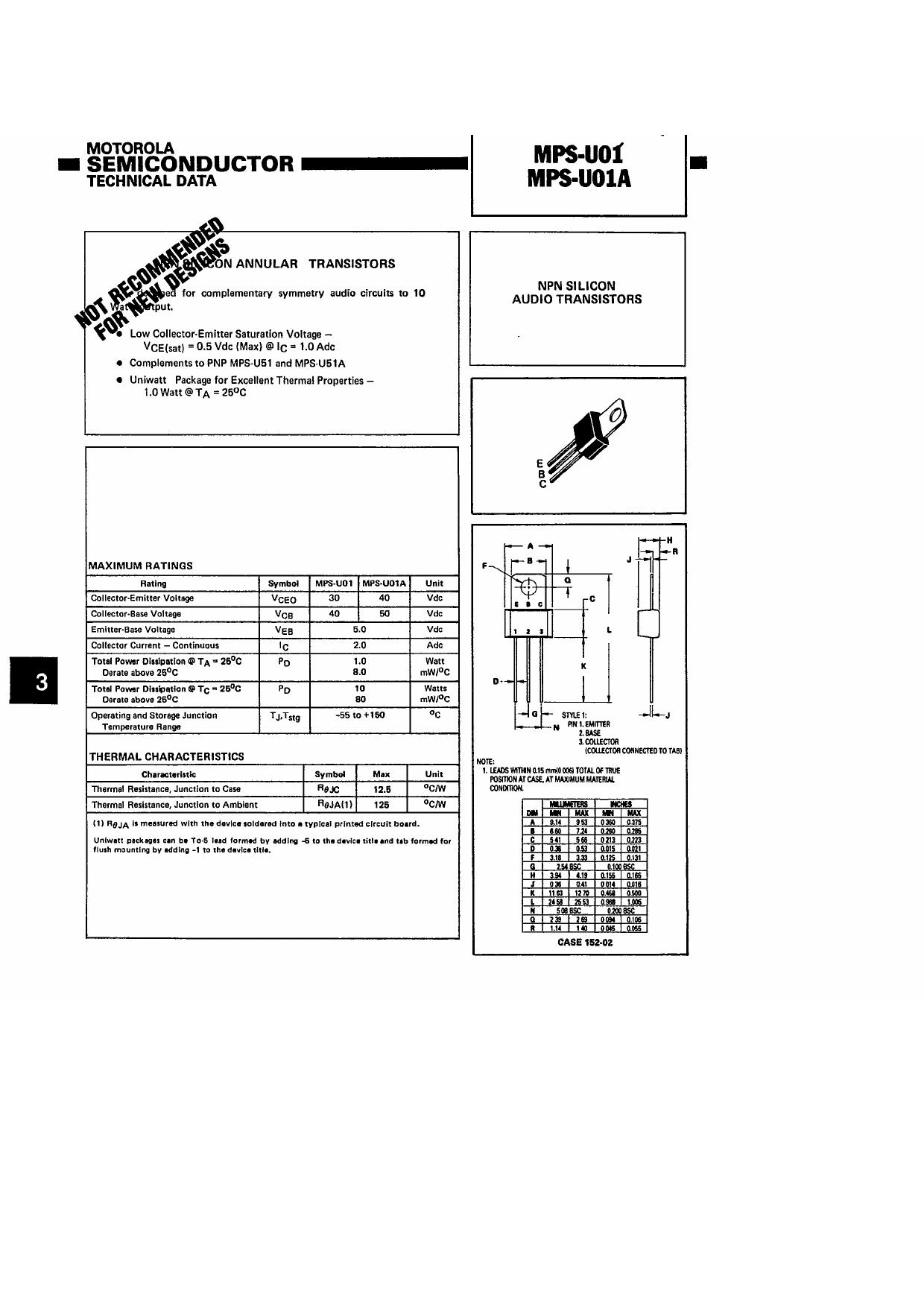 mpsu01 datasheet pdf   pinout