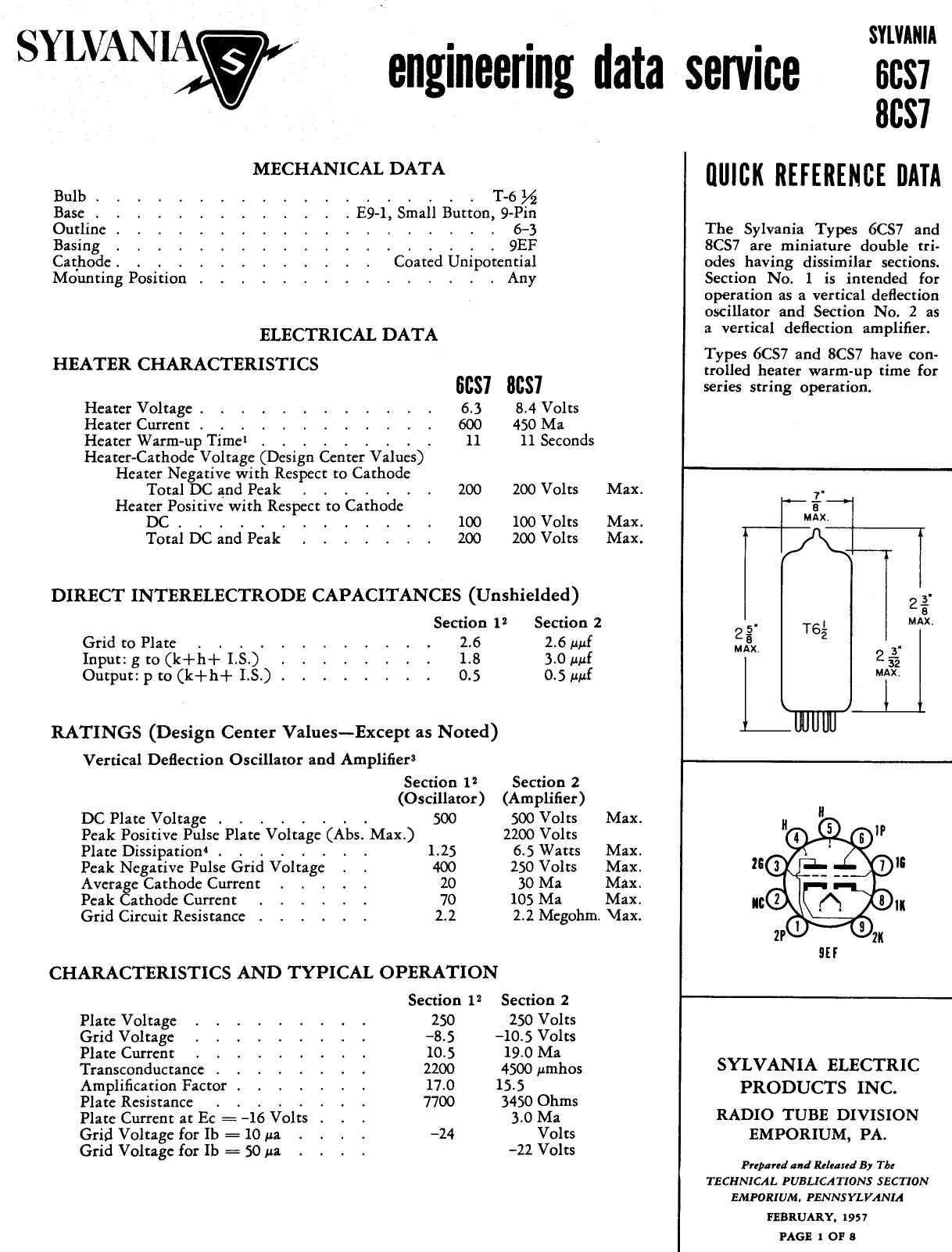 6CS7 Datasheet, 6CS7 PDF,ピン配置, 機能