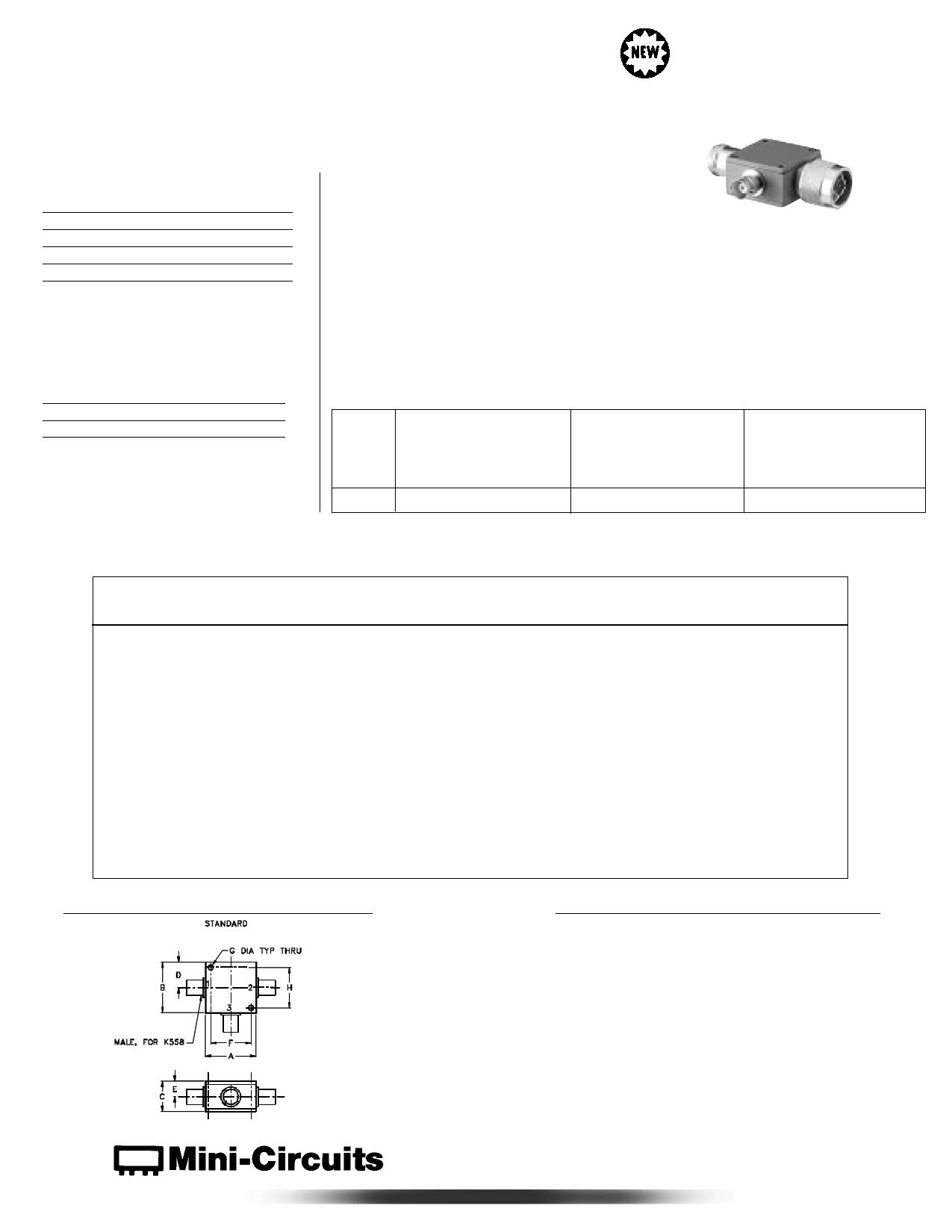 ZNBT-60-1W دیتاشیت PDF