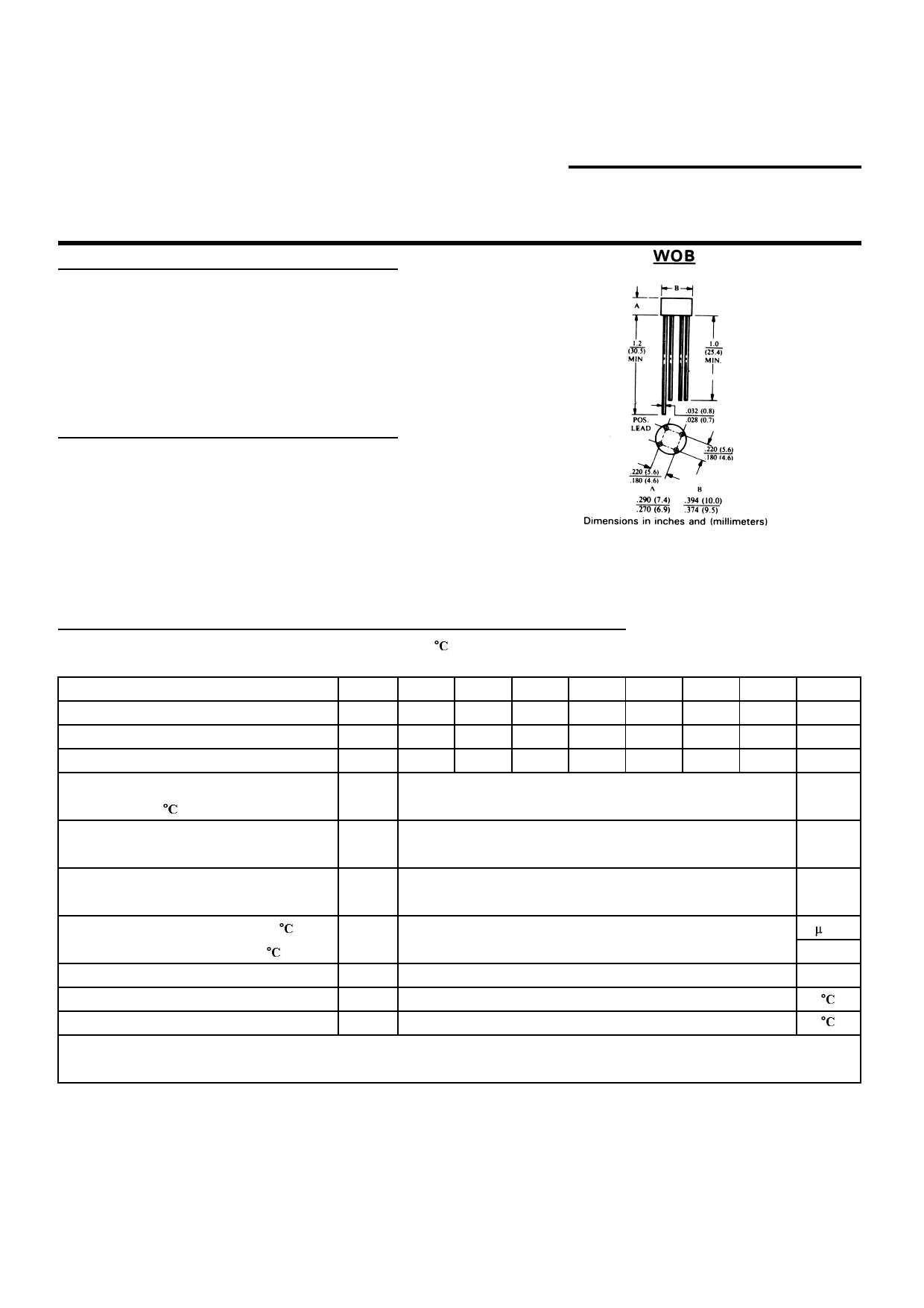W01G datasheet