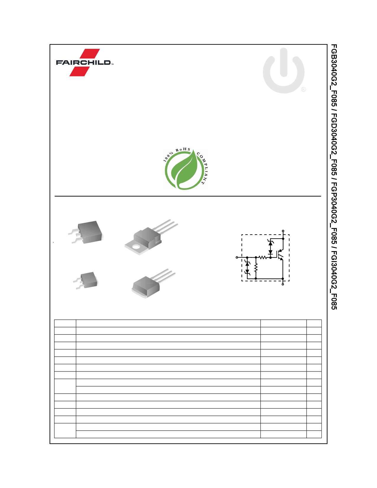 FGD3040G2_F085 데이터시트 및 FGD3040G2_F085 PDF