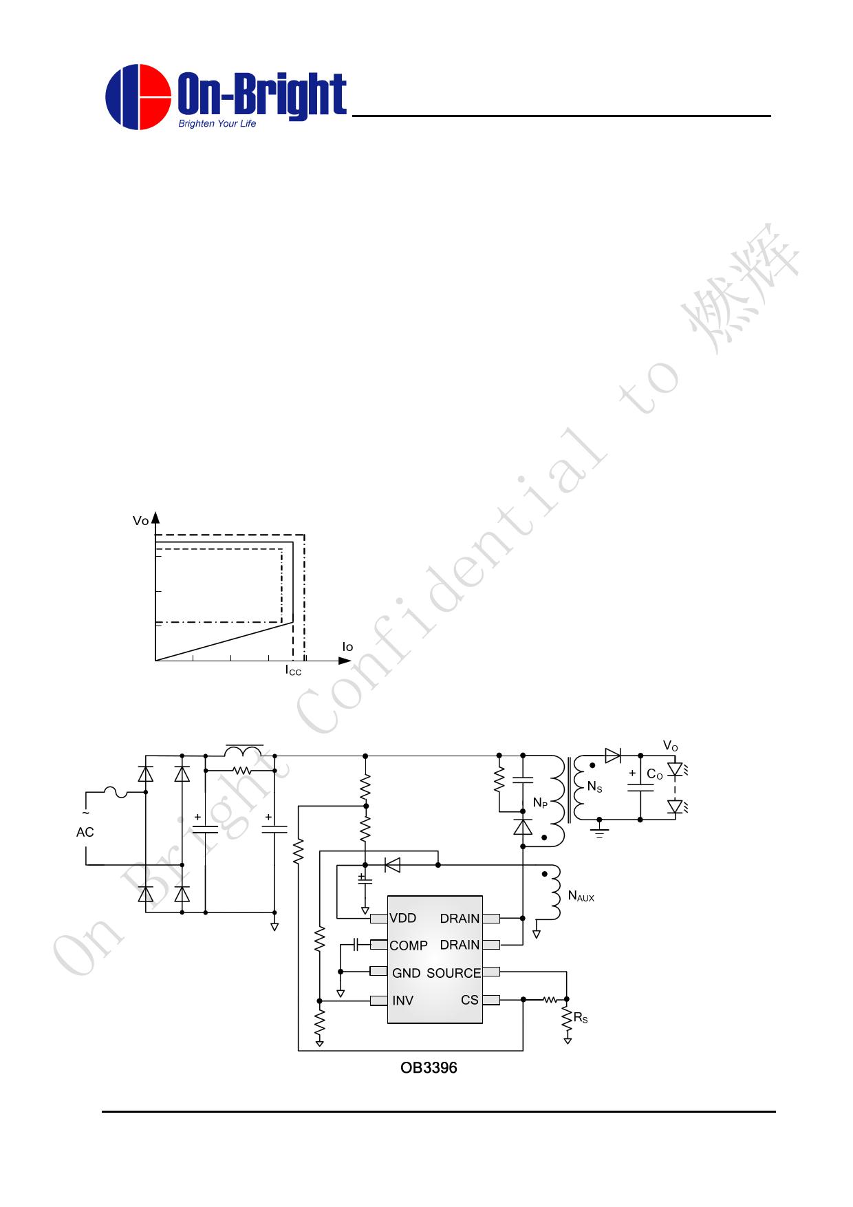 OB3396AP datasheet, circuit