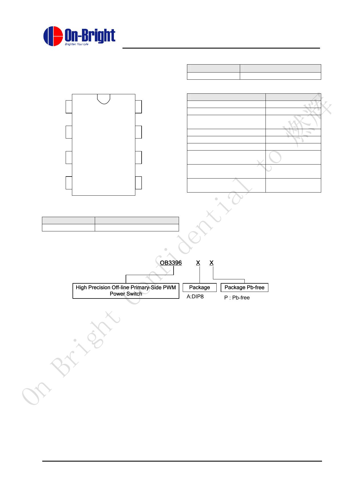 OB3396AP pdf, schematic