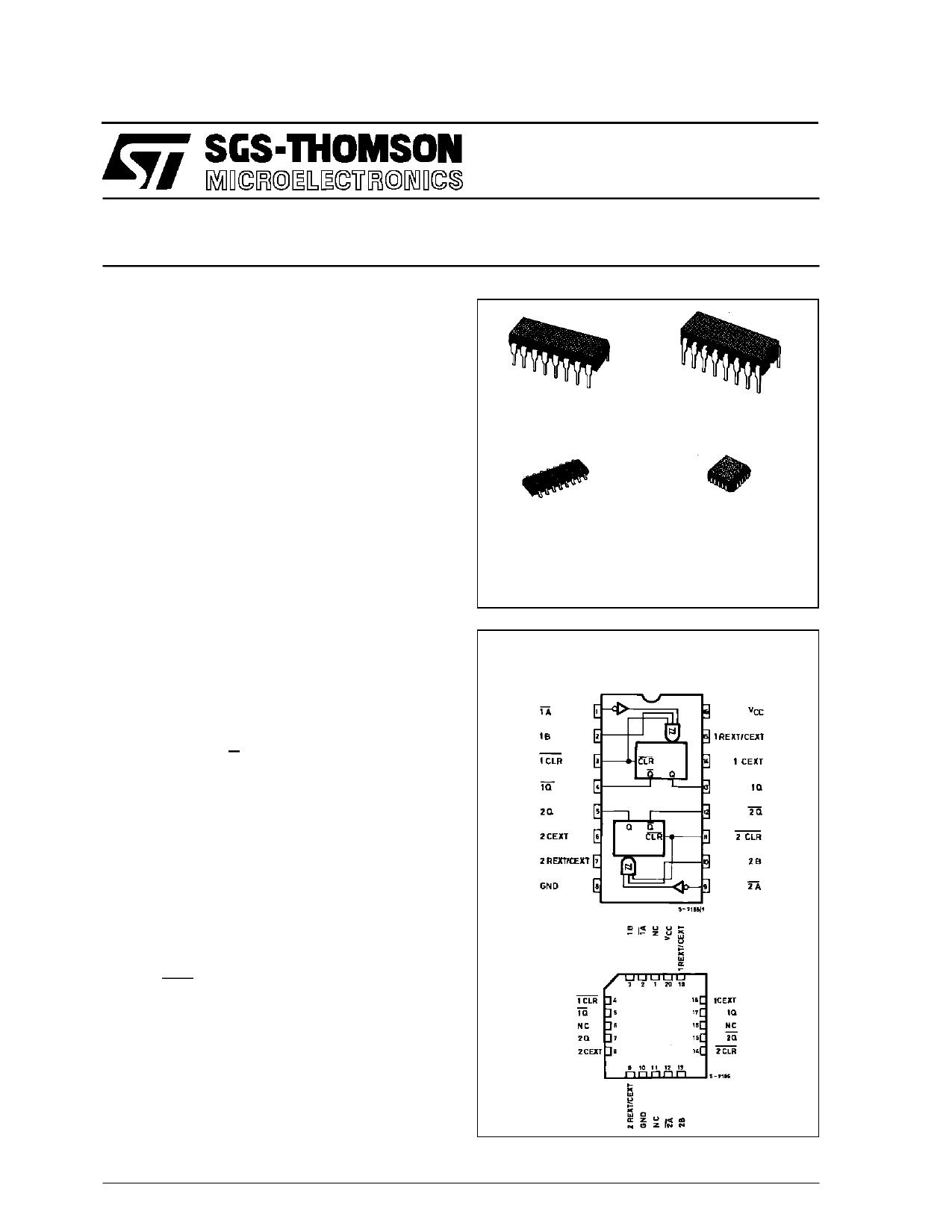 M54HC123AM1R دیتاشیت PDF