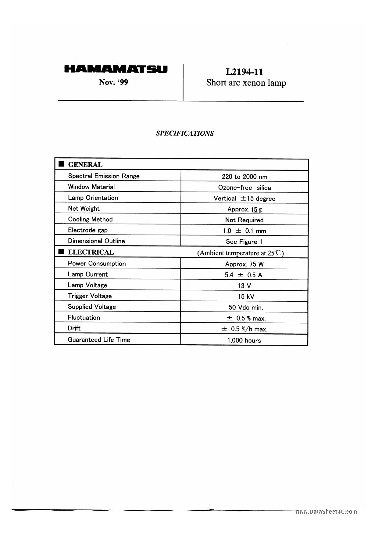 L2194-11 datasheet