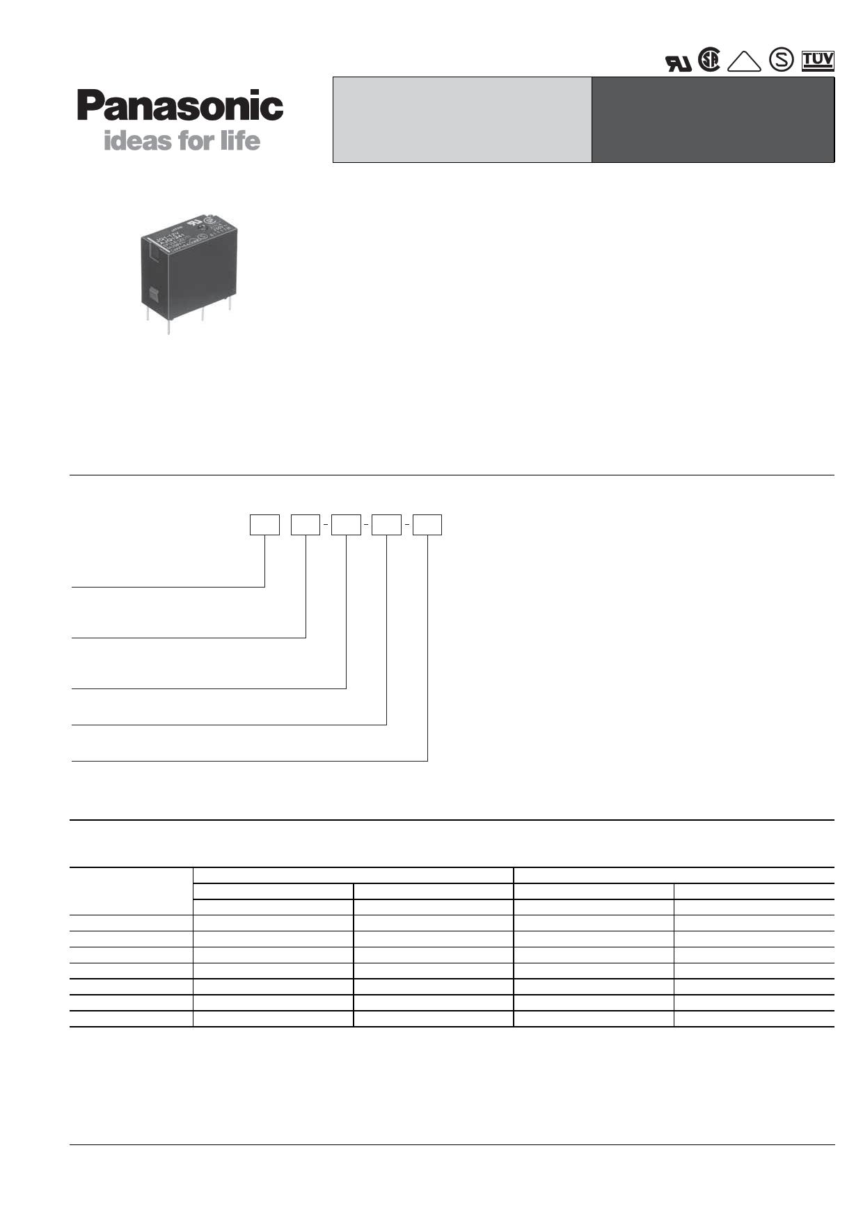 JQ1P-6V-F دیتاشیت PDF