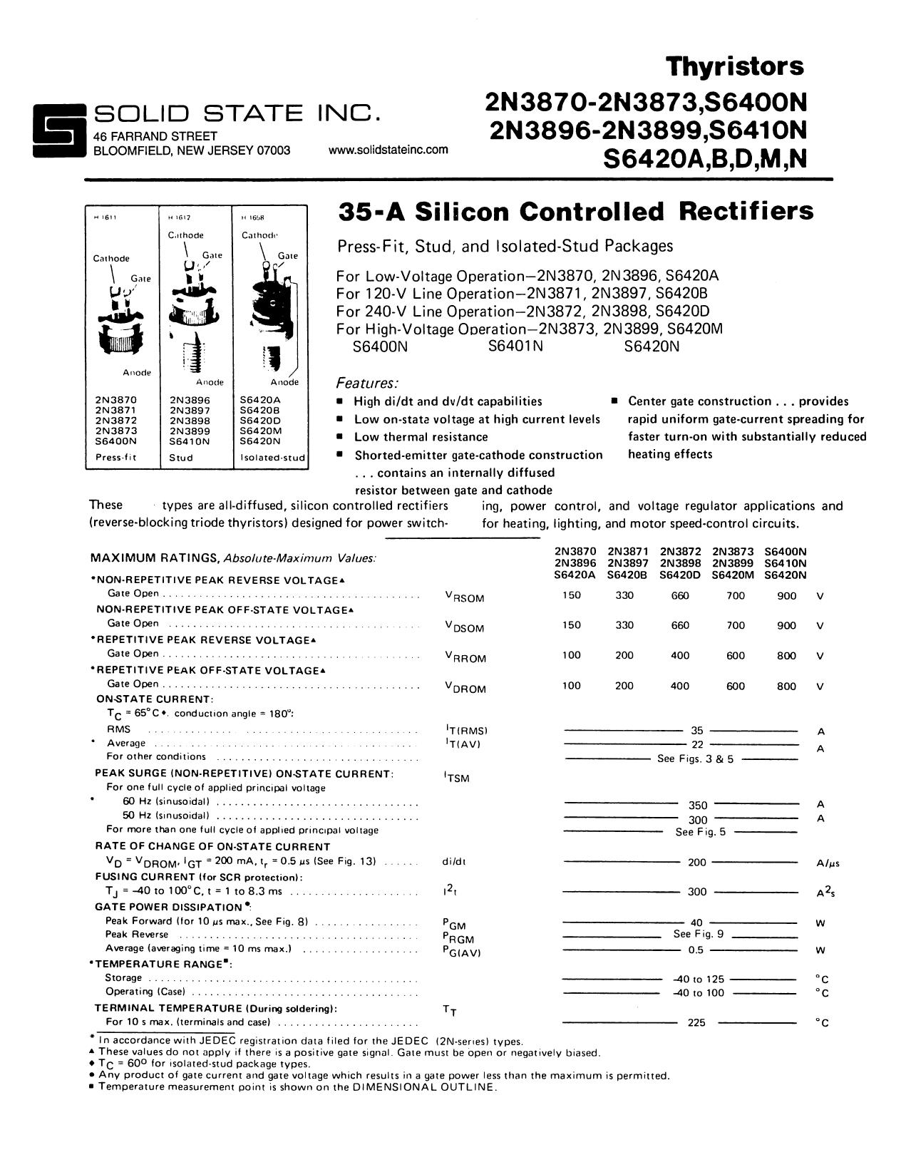 2N3898 دیتاشیت PDF