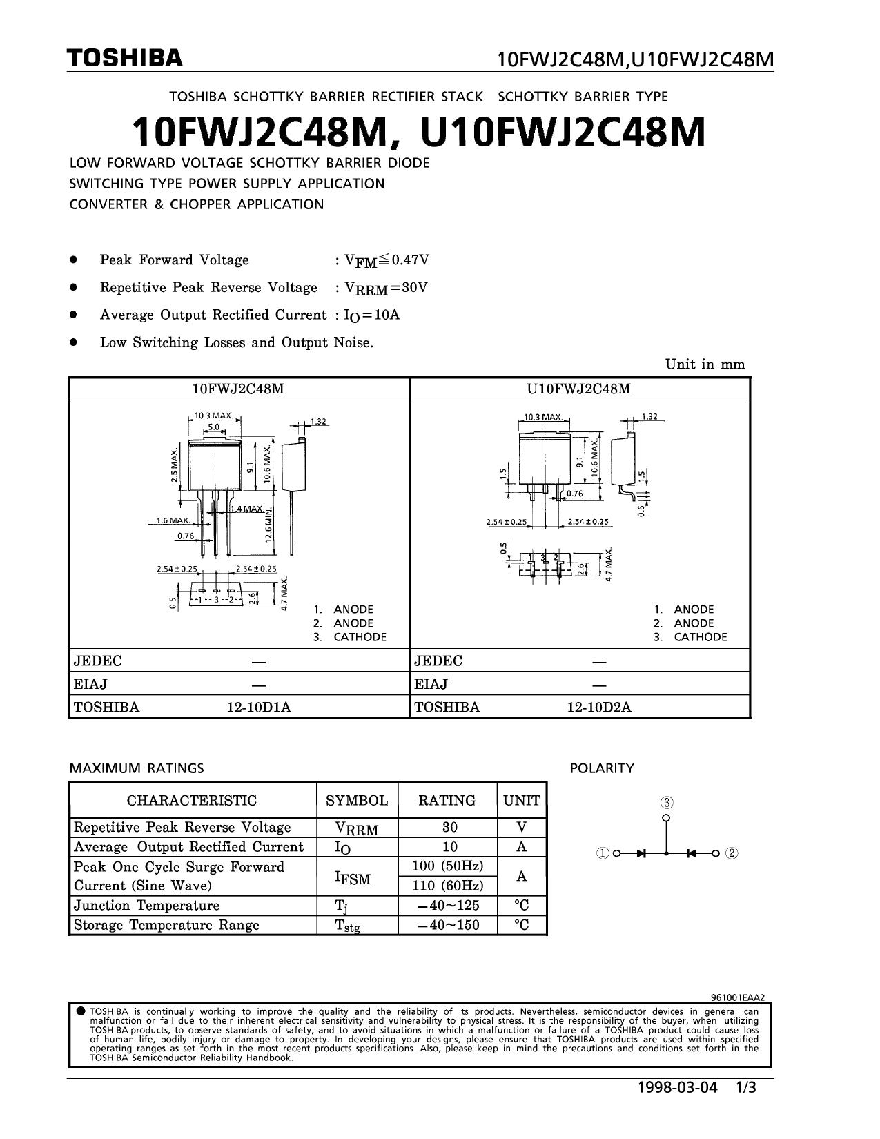 U10FWJ2C48M دیتاشیت PDF