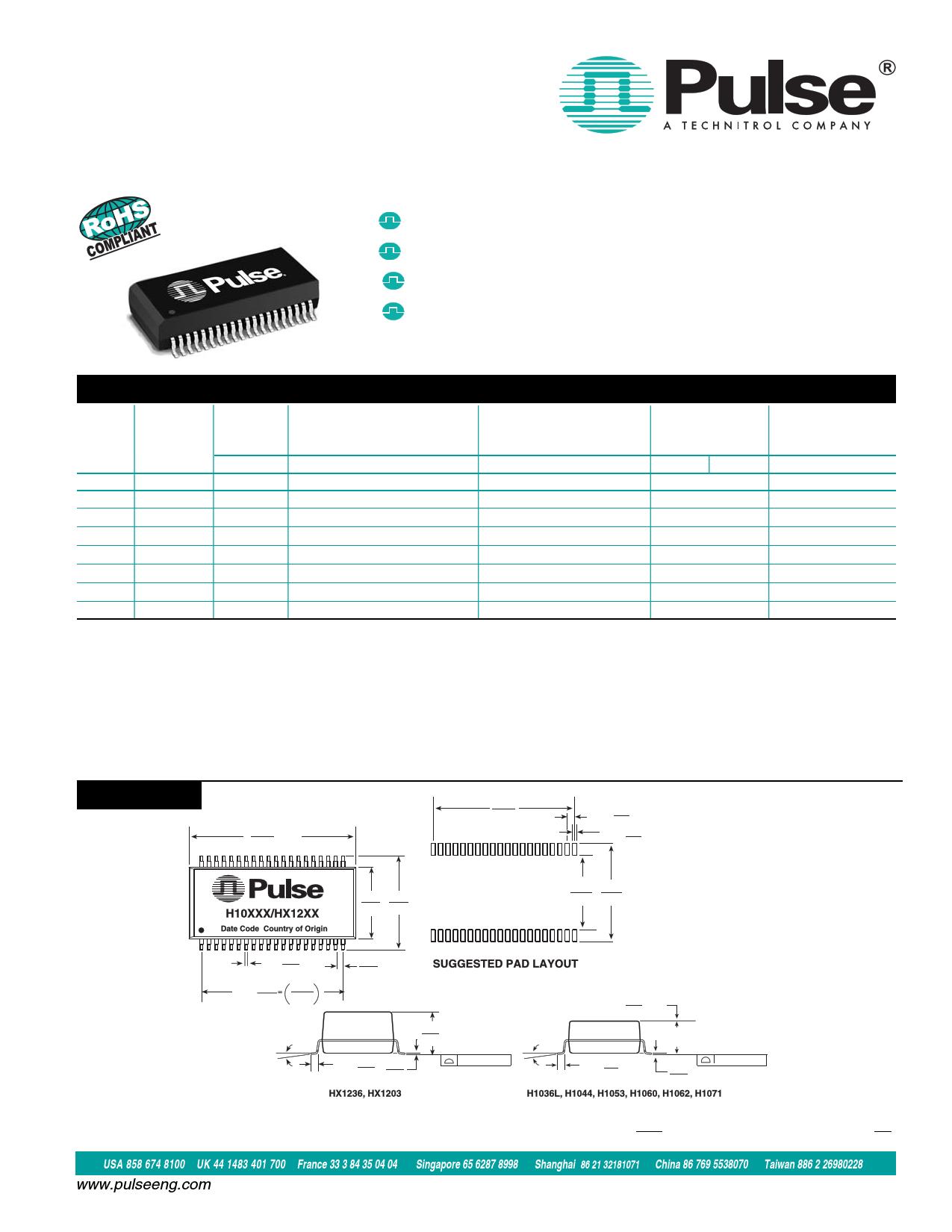 H1036LNL دیتاشیت PDF