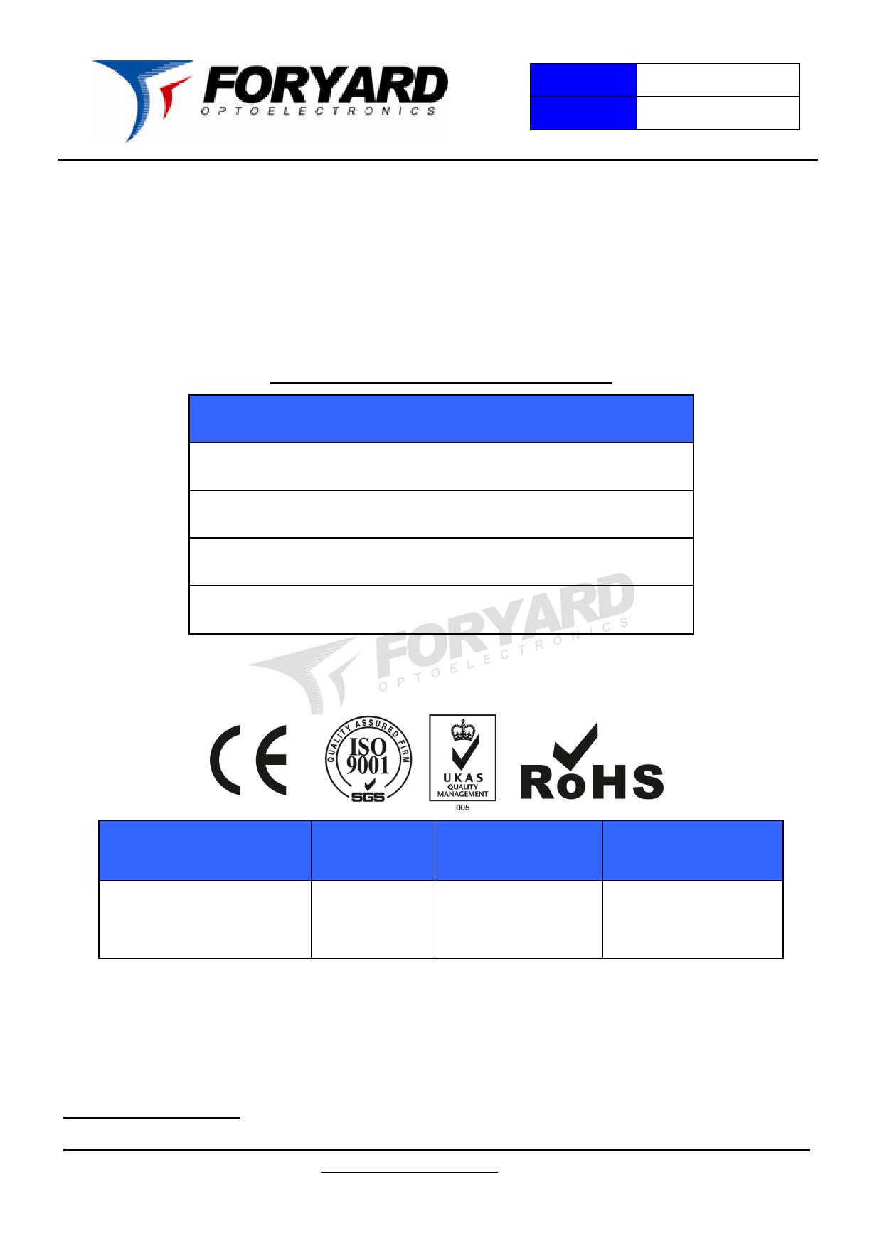 FYL-5013LUAC1C دیتاشیت PDF