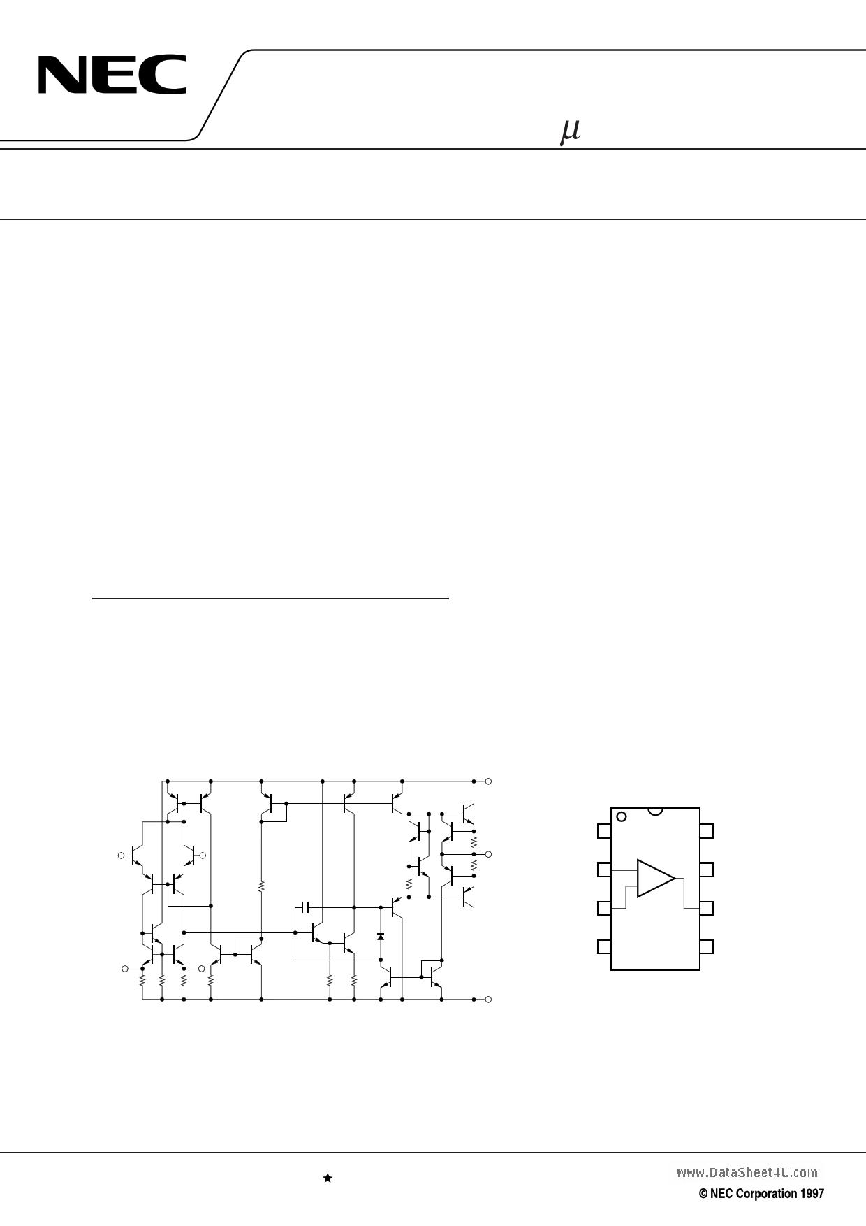 UPC152A دیتاشیت PDF