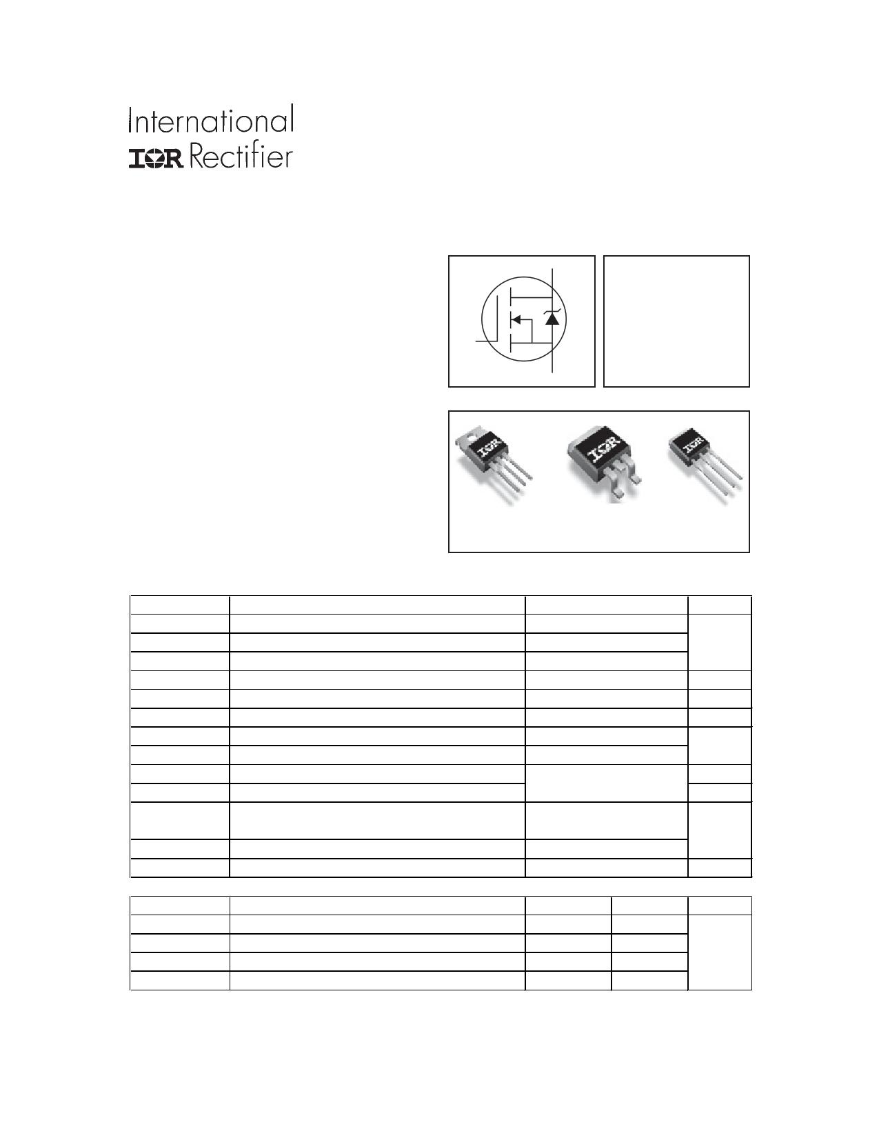IRFZ44ZSPbF Datasheet, IRFZ44ZSPbF PDF,ピン配置, 機能
