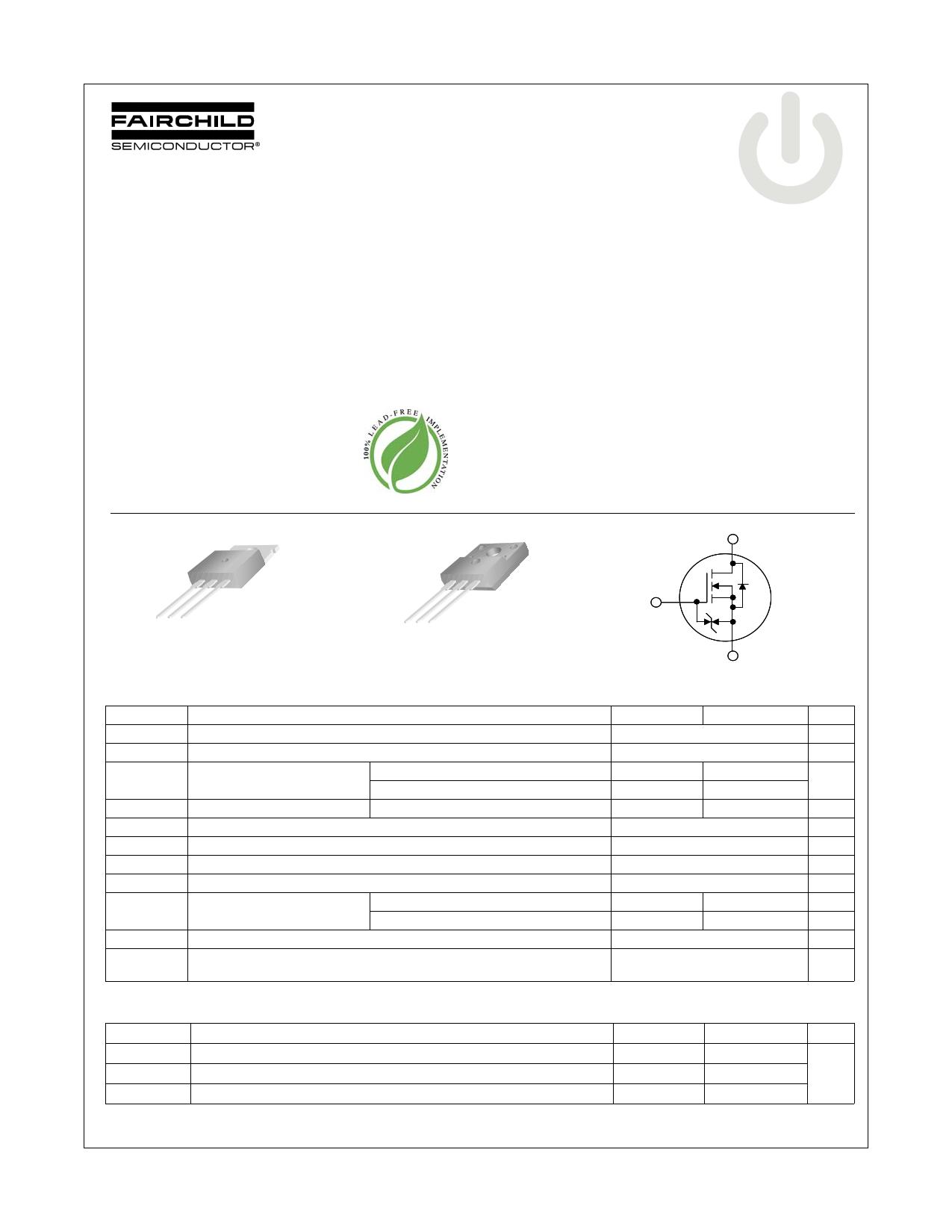 FDP10N60ZU 데이터시트 및 FDP10N60ZU PDF