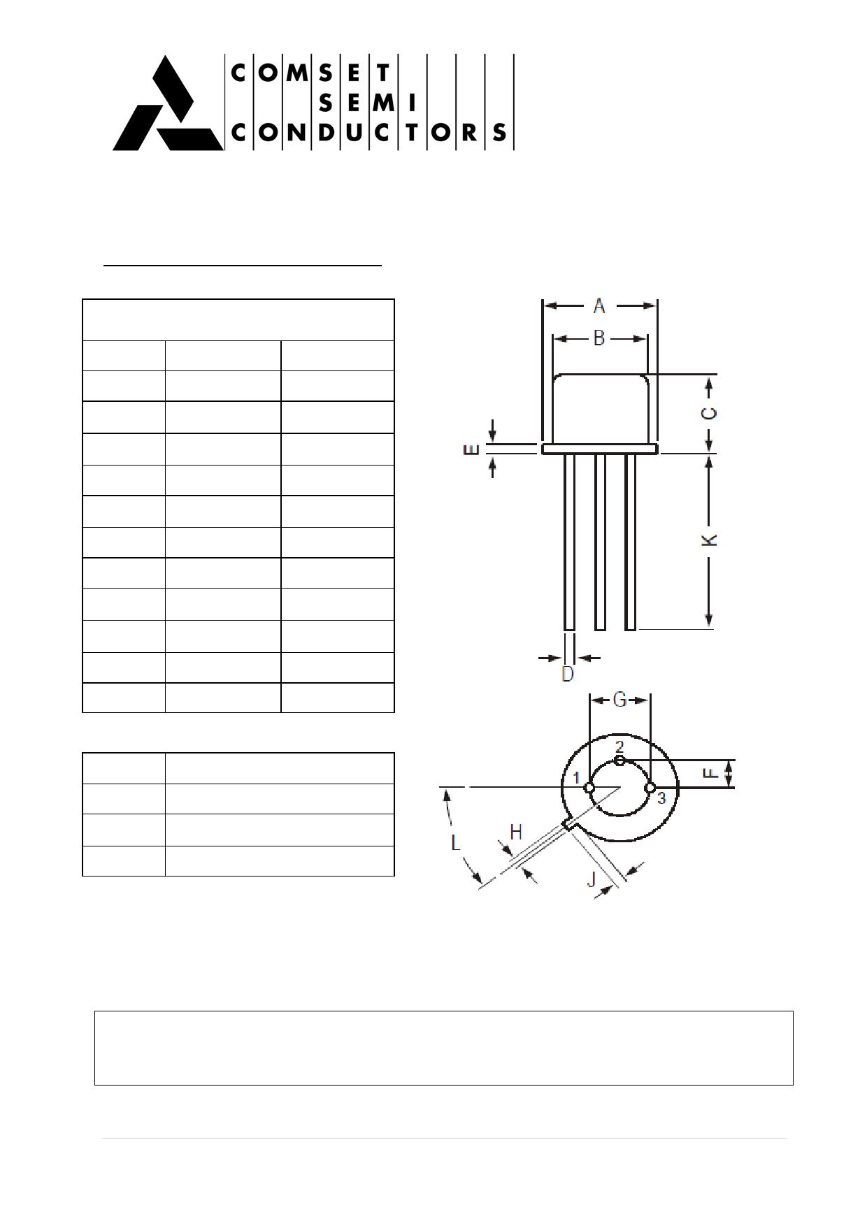 2N1598 pdf, ピン配列