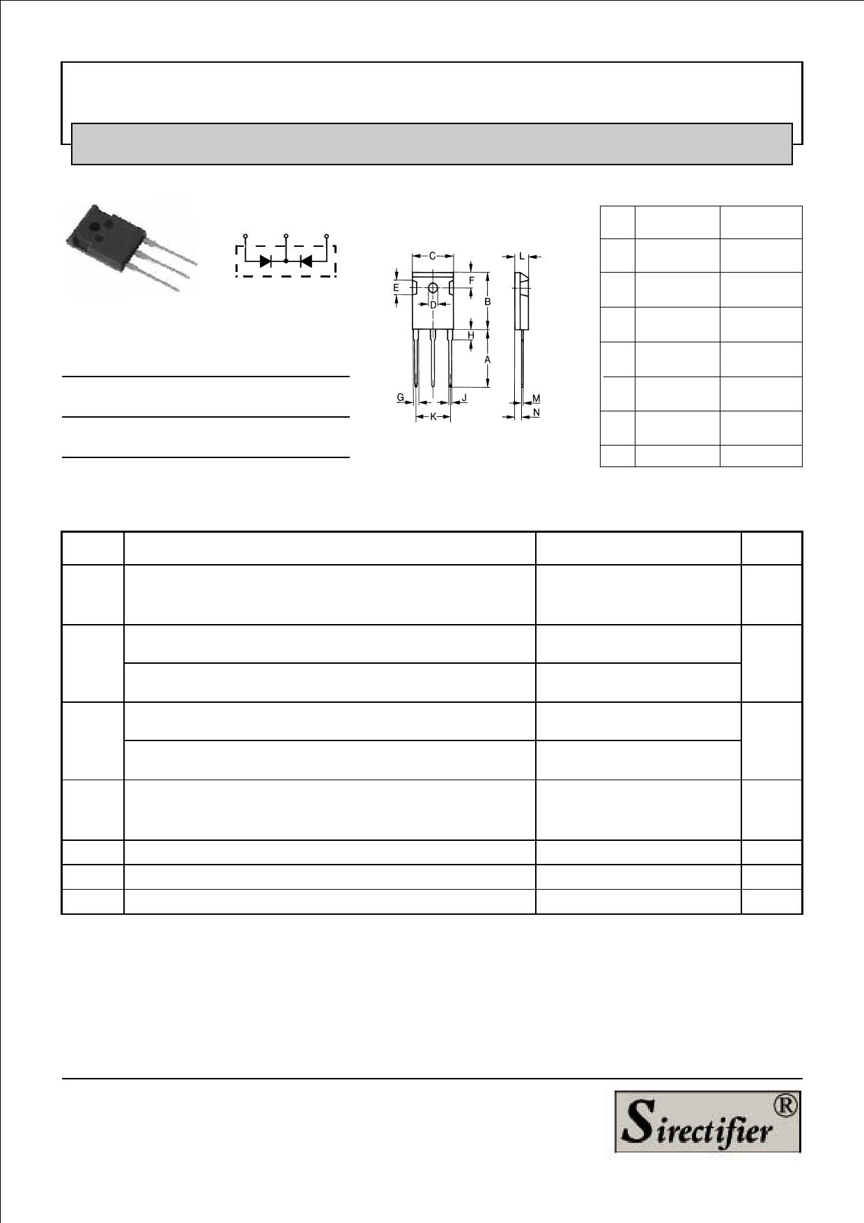 MUR6020PT datasheet