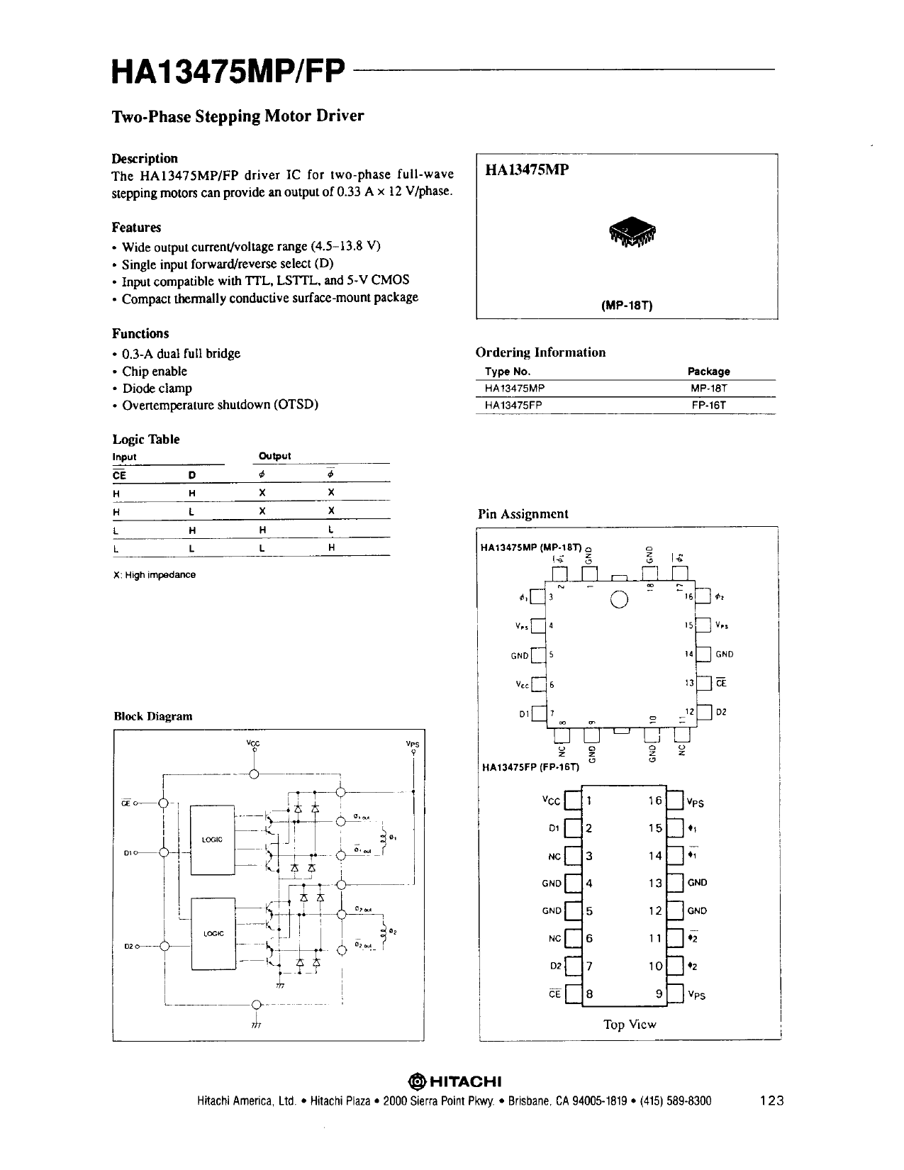 HA13475MP دیتاشیت PDF