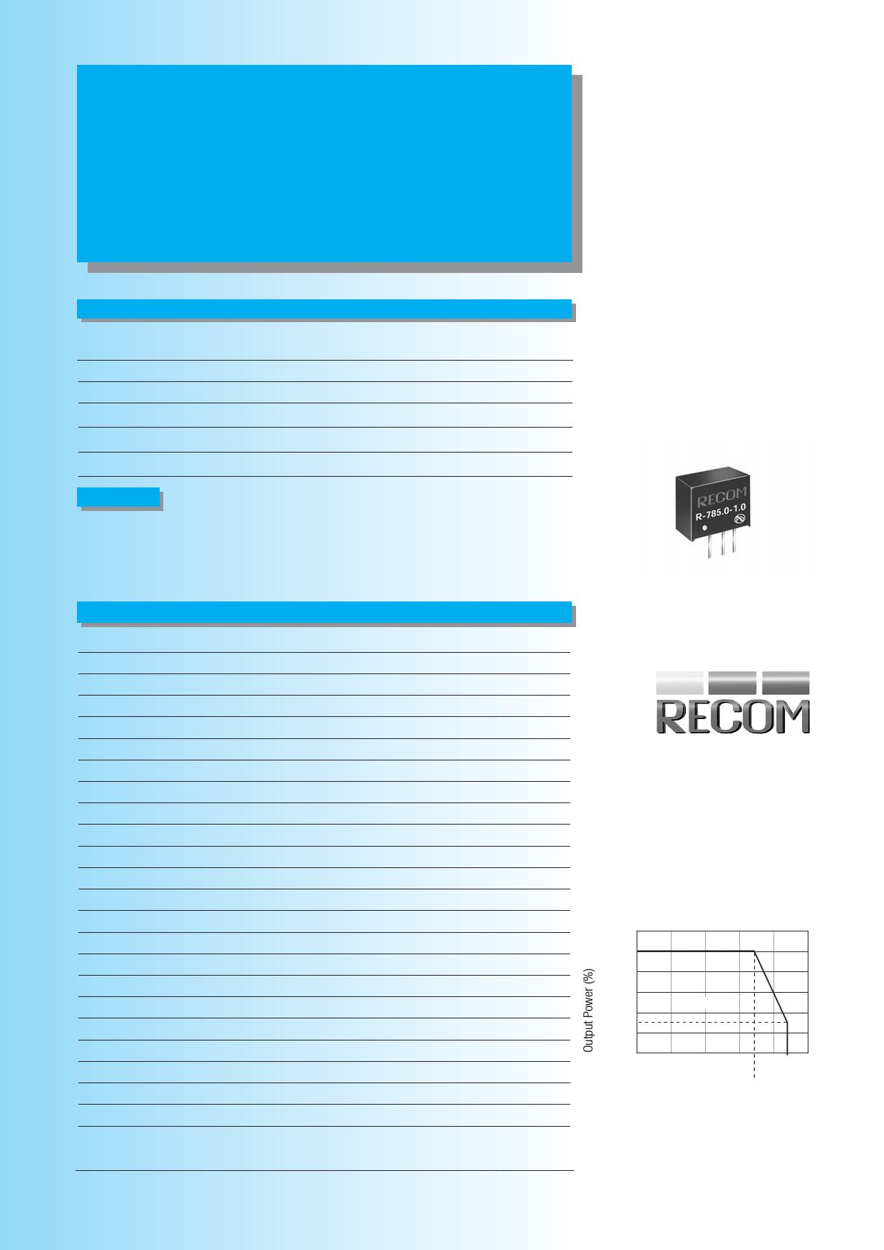 R-785.0-1.0 datasheet
