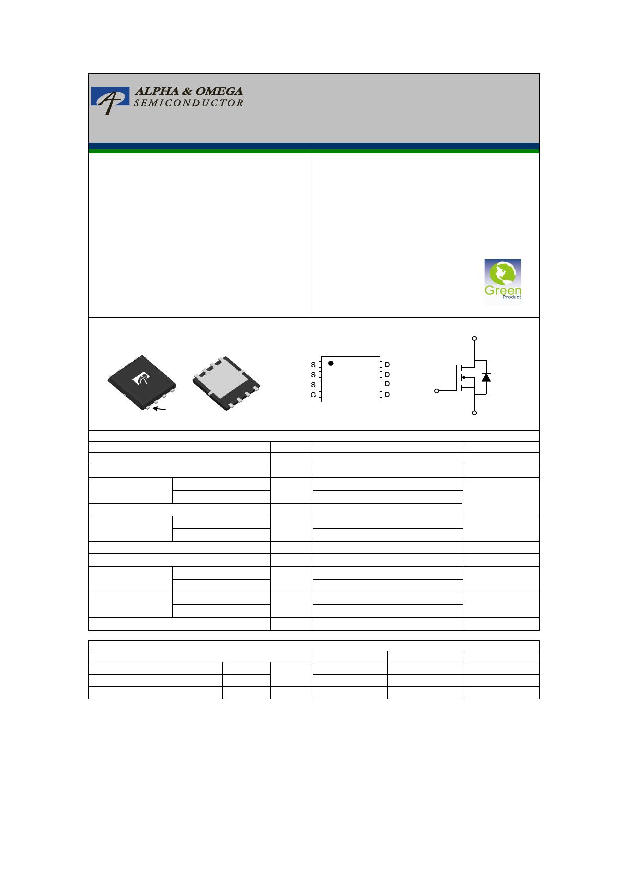 AON6536 Datasheet, AON6536 PDF,ピン配置, 機能