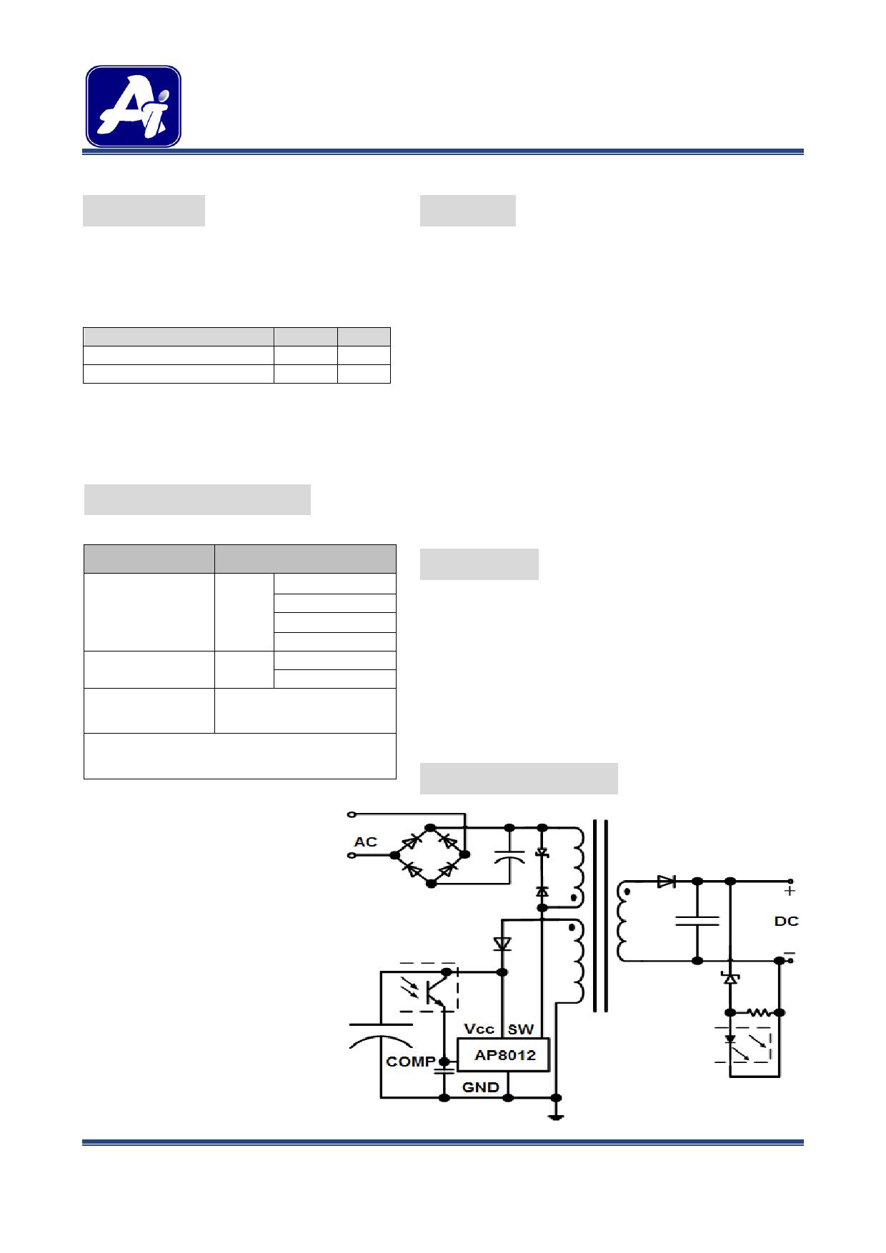 ap8012 hoja de datos   datasheet pdf
