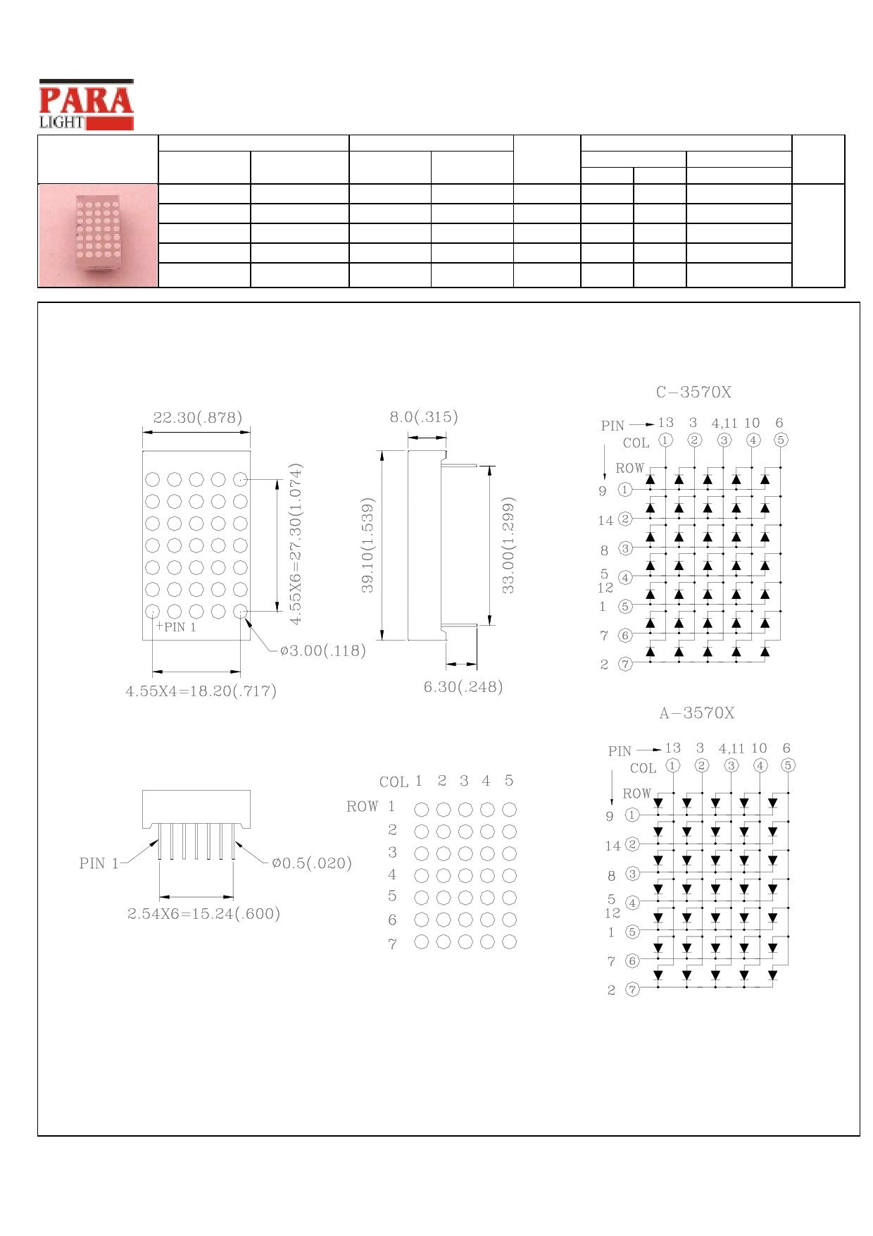 C-3570X دیتاشیت PDF