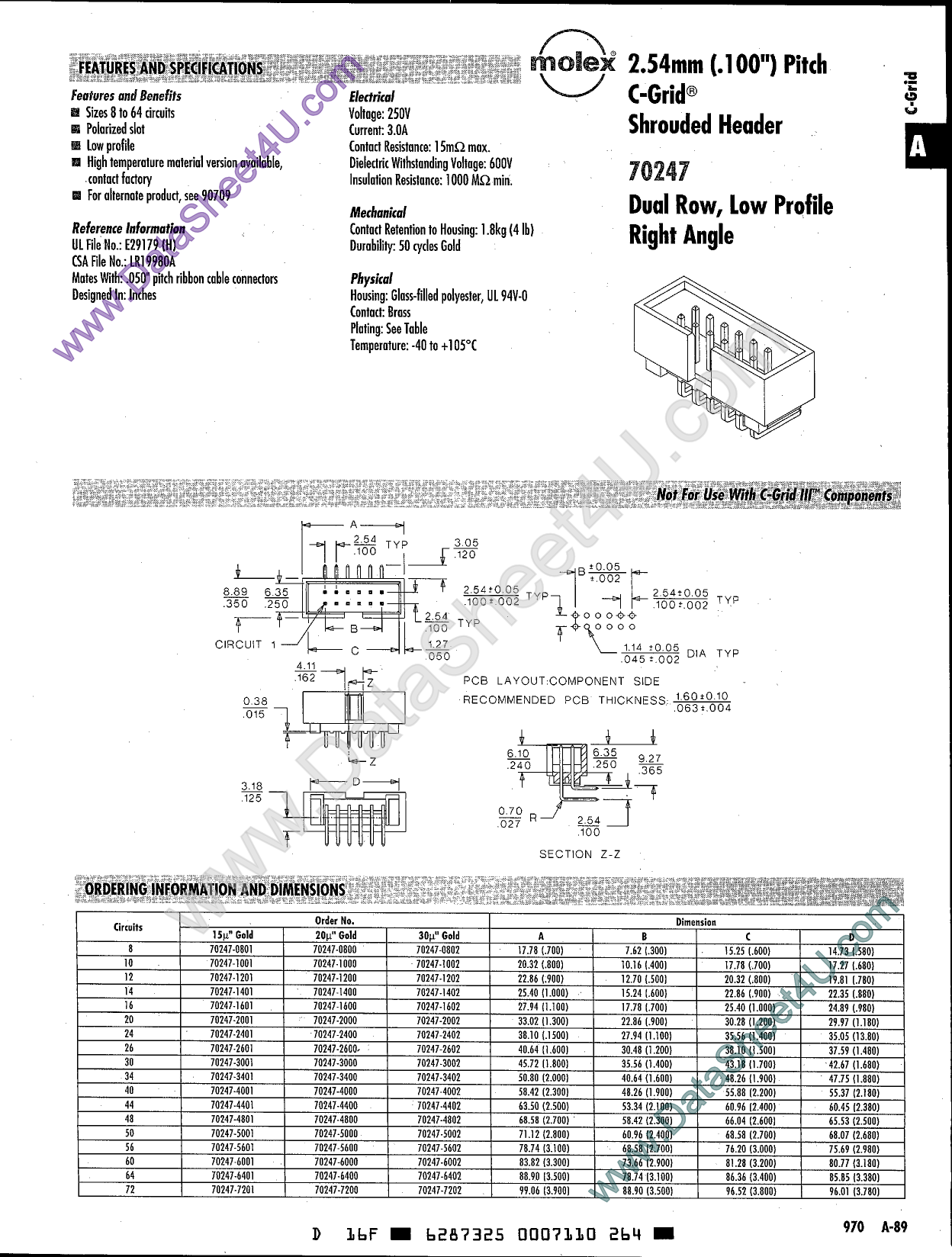 70247-xxxx دیتاشیت PDF