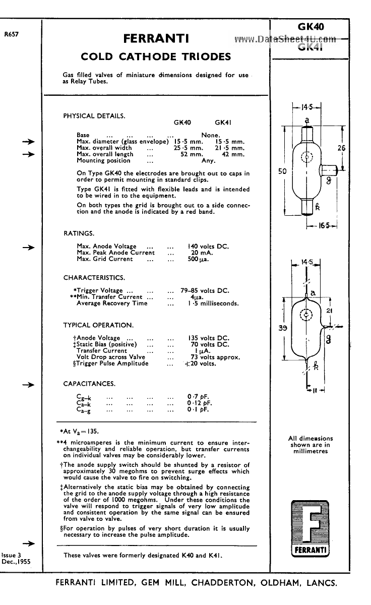 GK40 دیتاشیت PDF
