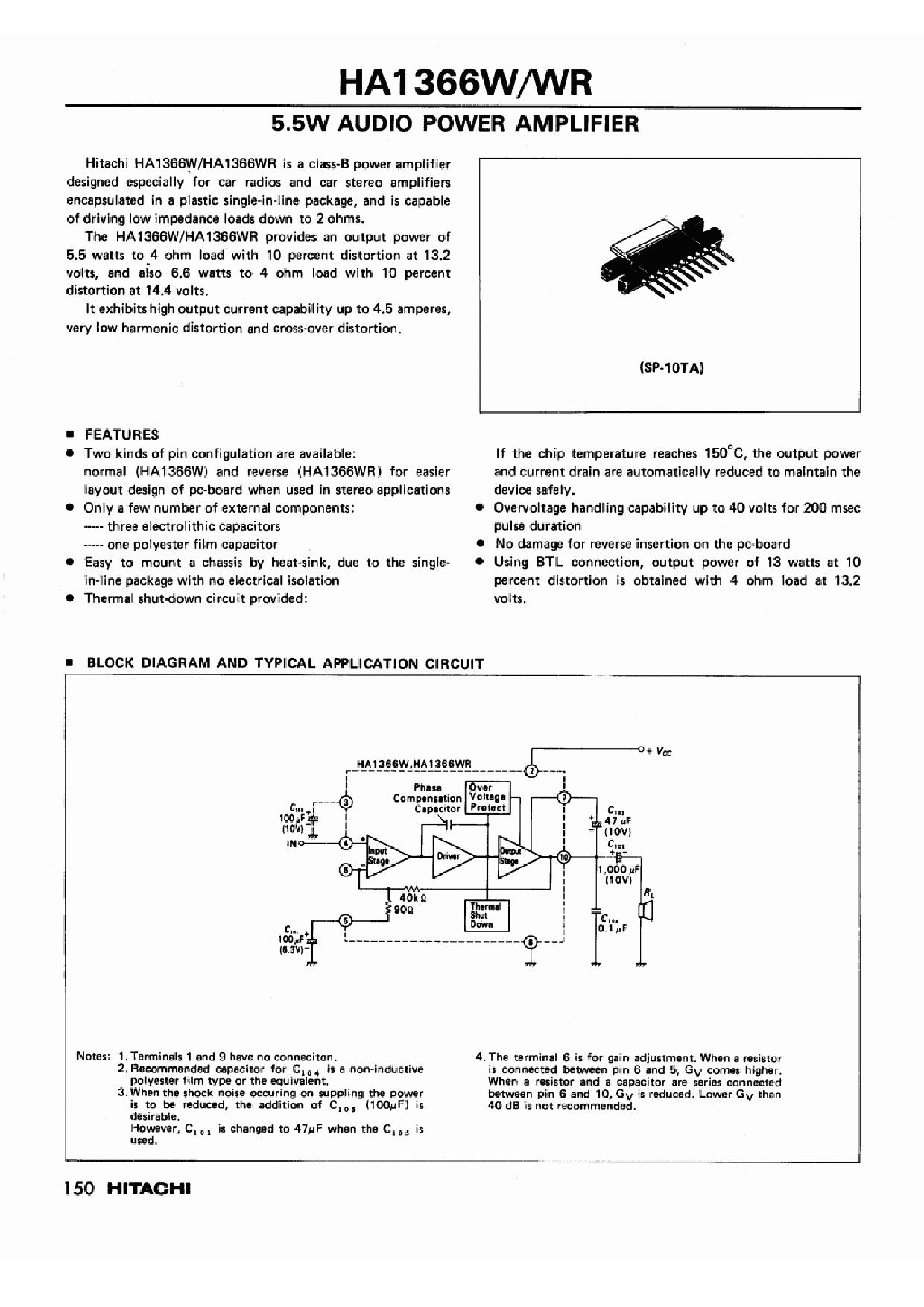 HA1366W دیتاشیت PDF
