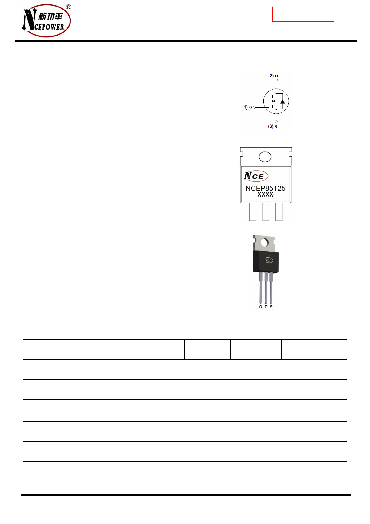 NCEP85T25 دیتاشیت PDF
