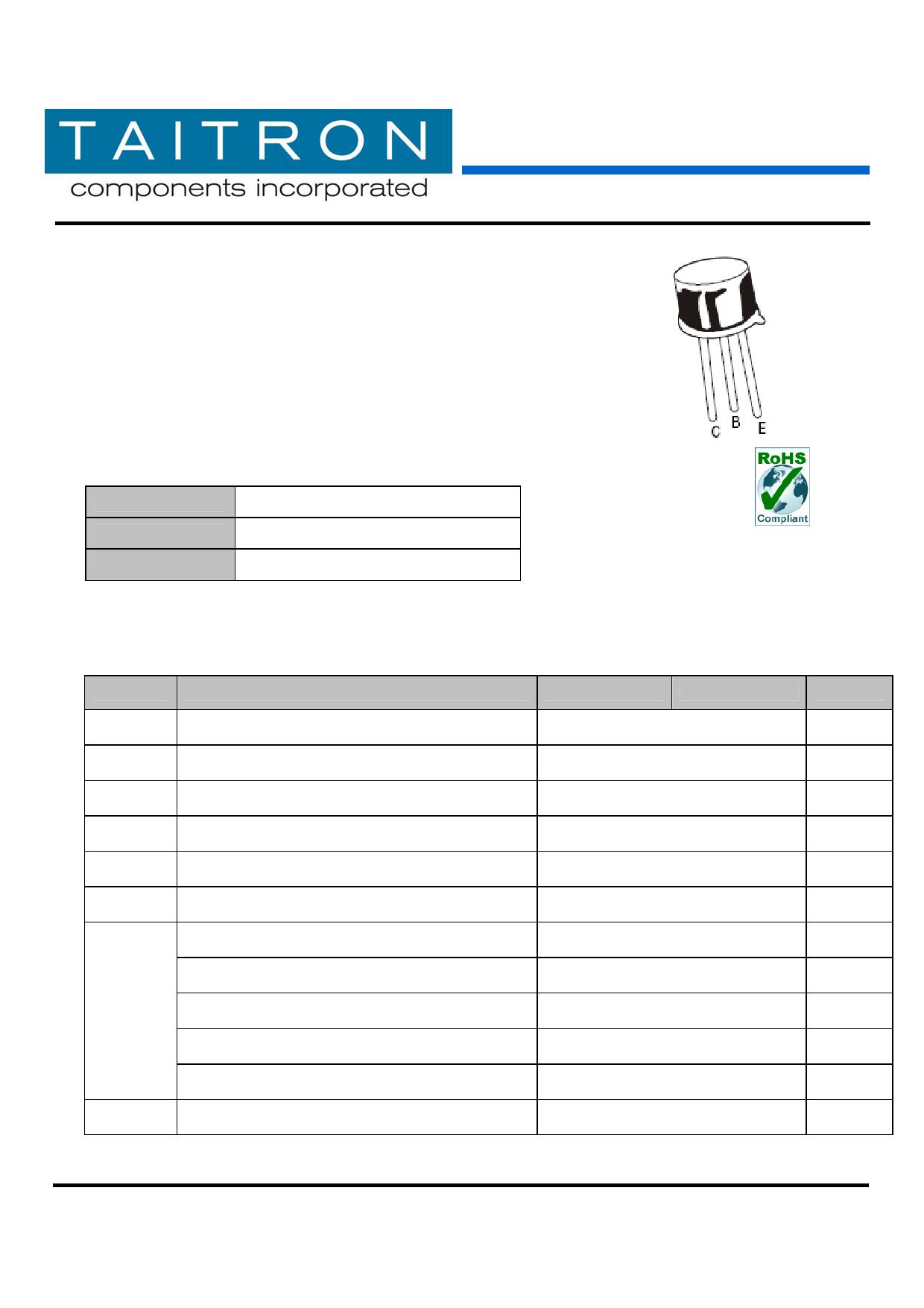 2N2369A 데이터시트 및 2N2369A PDF