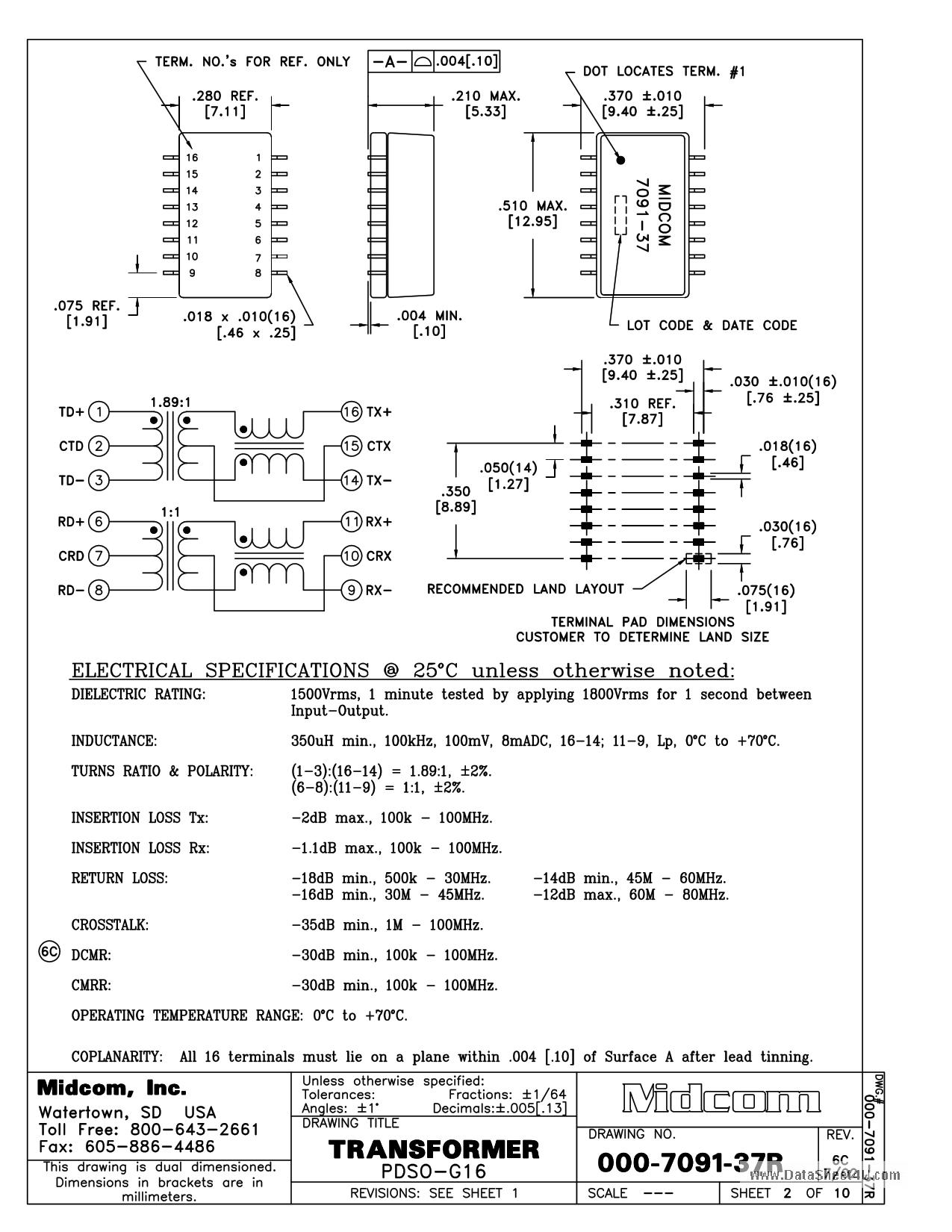 000-7091-37R Hoja de datos, Descripción, Manual