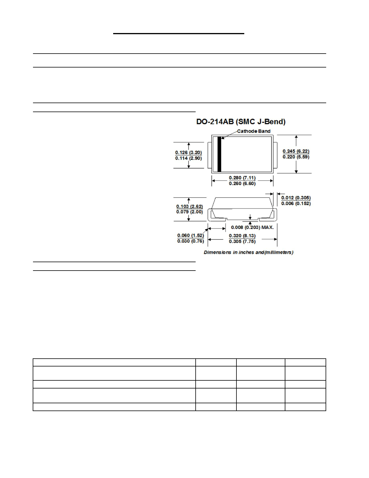 5.0SMLJ170A Hoja de datos, Descripción, Manual