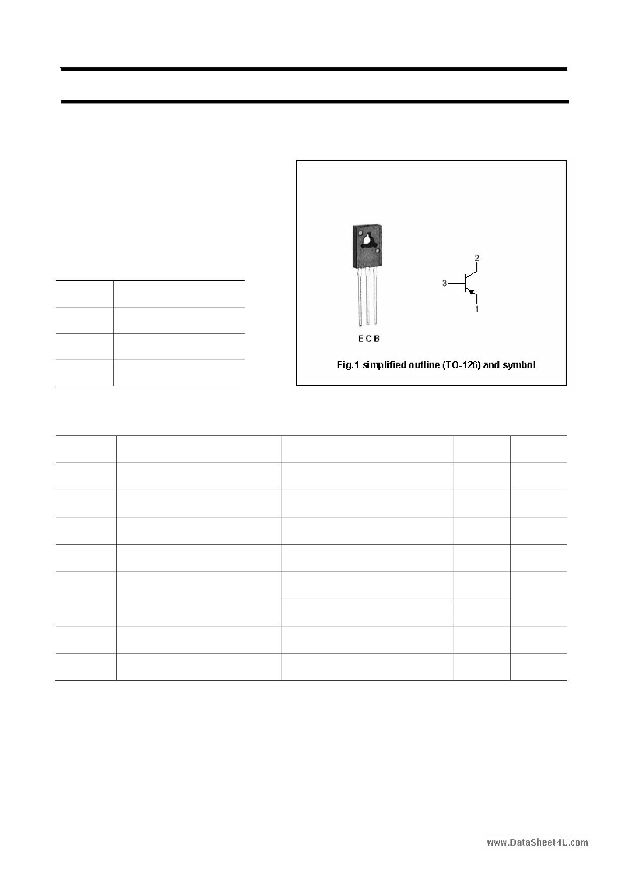 2SB1009 دیتاشیت PDF