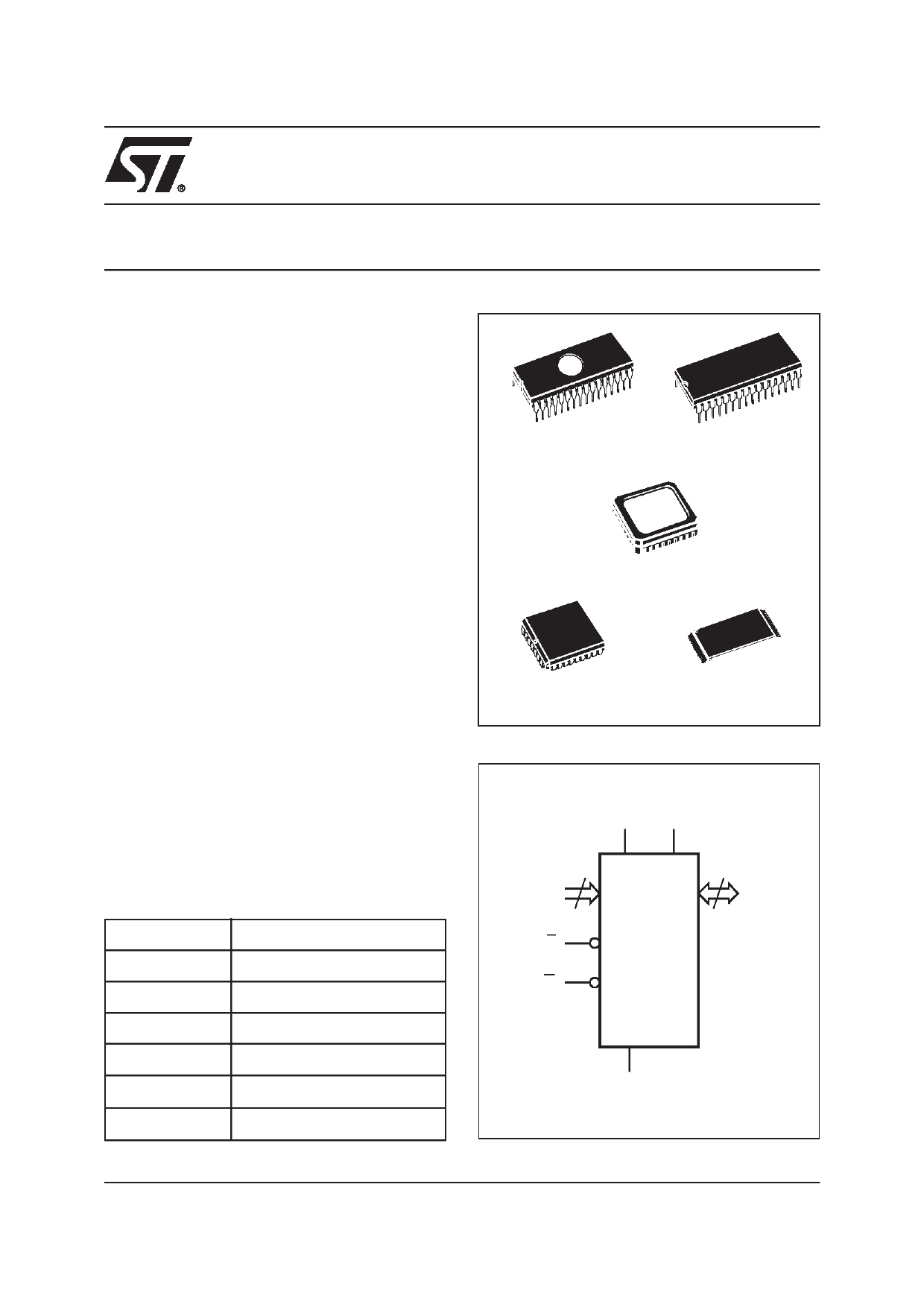 M27C4001-70C6TR دیتاشیت PDF