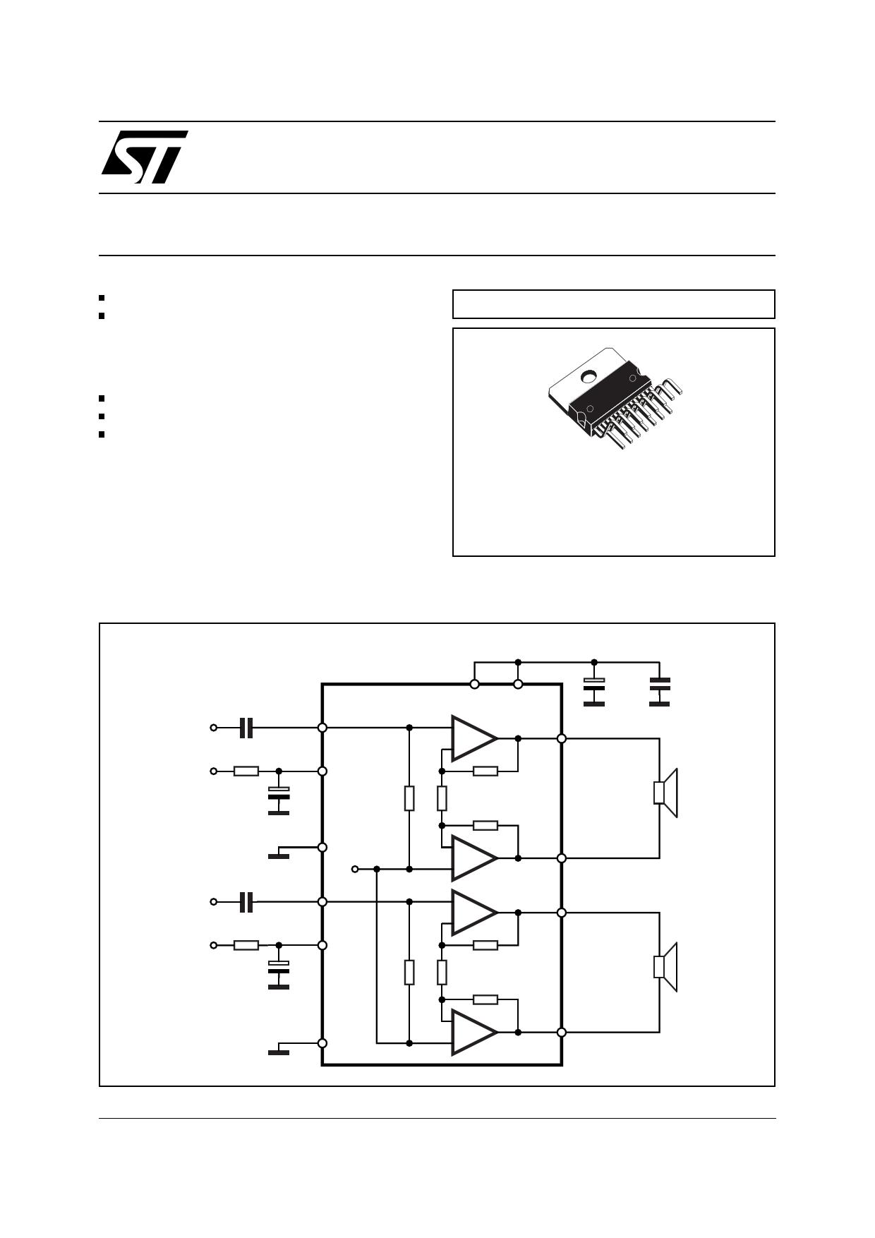TDA7297 datasheet pinout