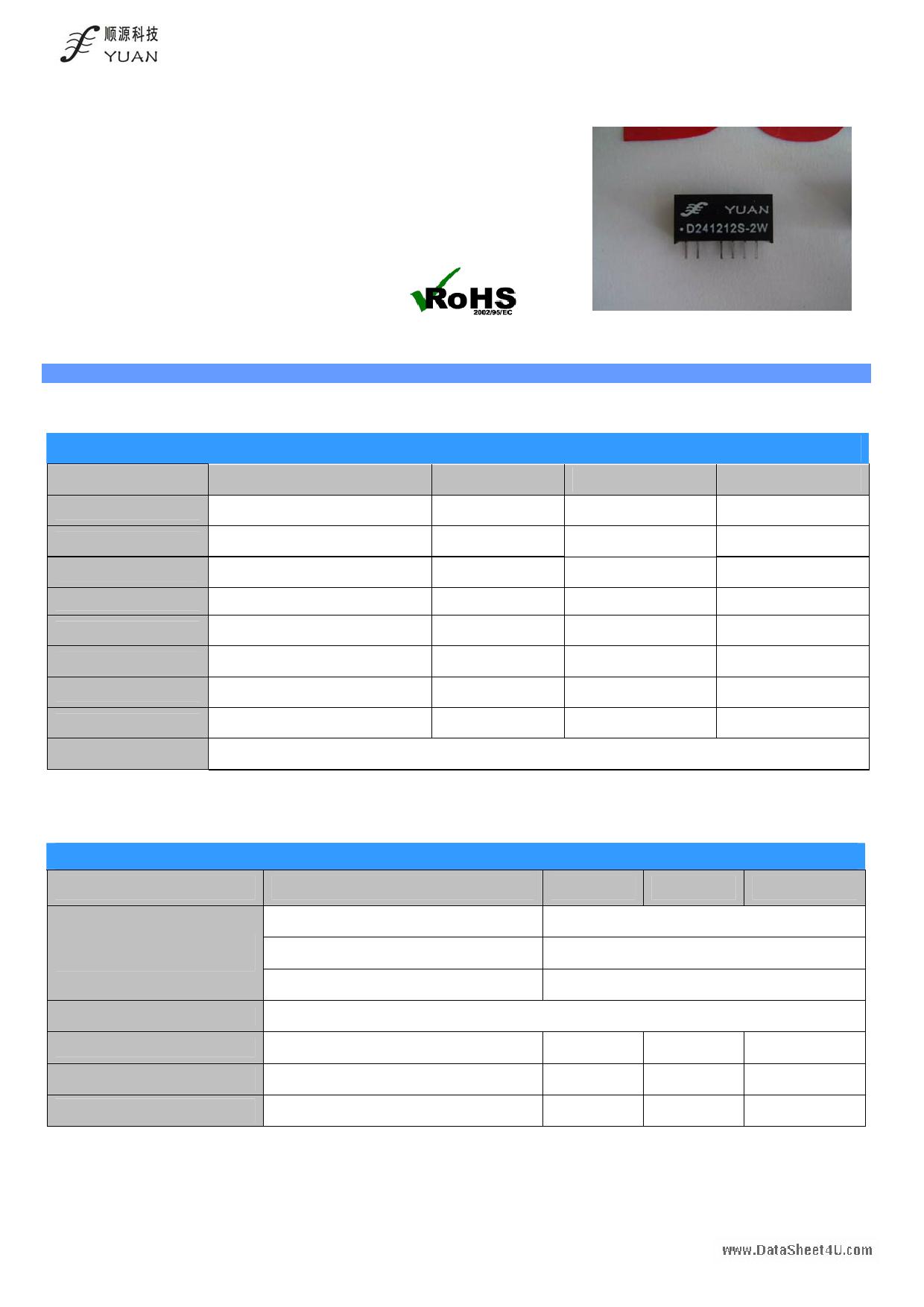 D05xxS-2W Hoja de datos, Descripción, Manual