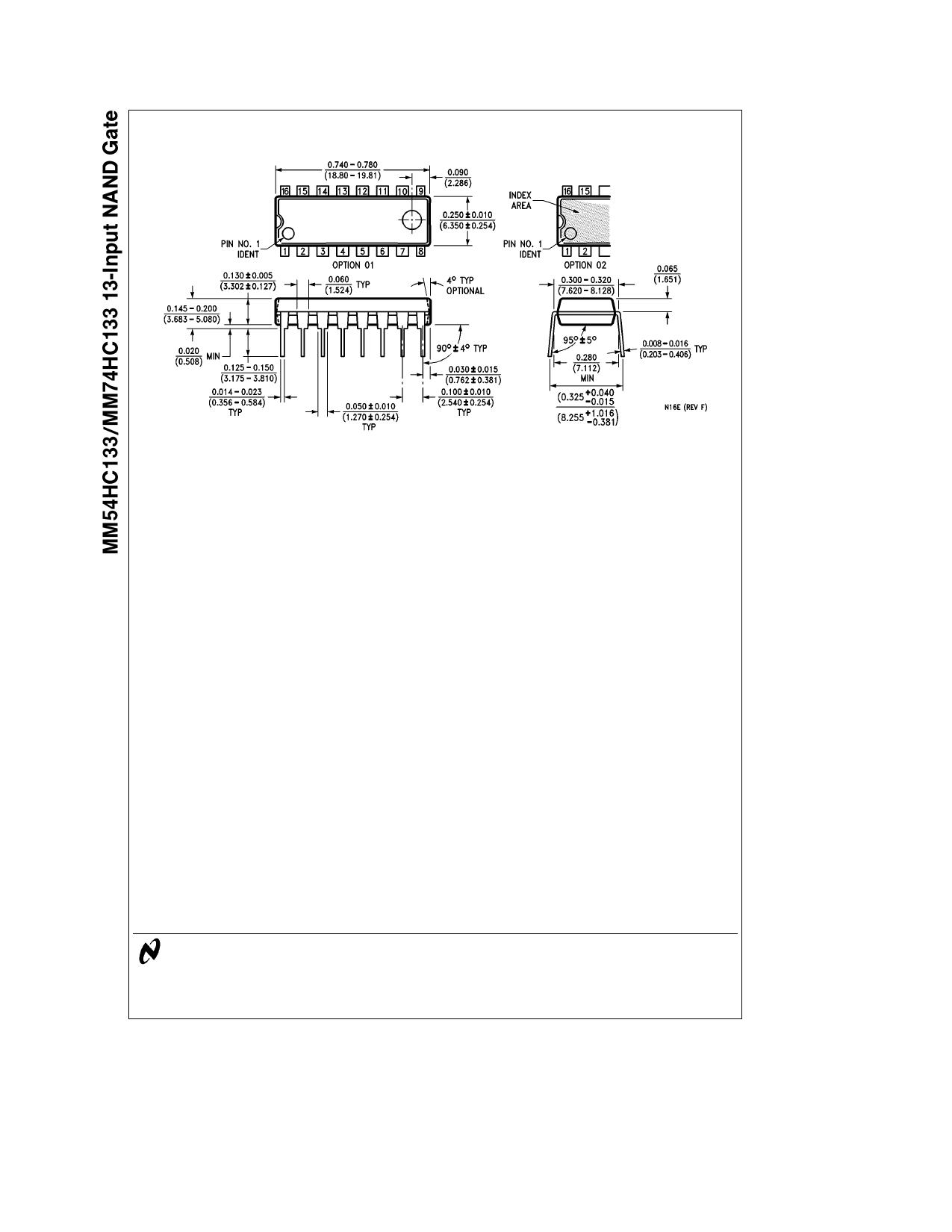 MM54HC133 pdf, 반도체, 판매, 대치품