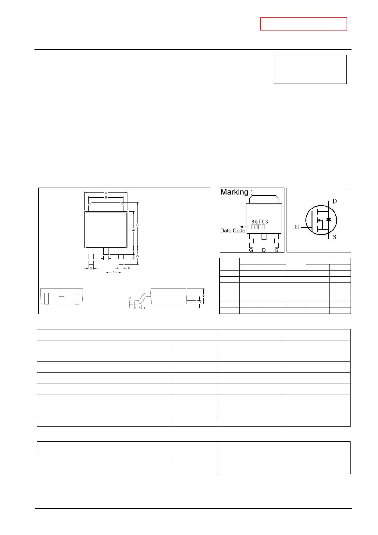 GJ85T03 دیتاشیت PDF