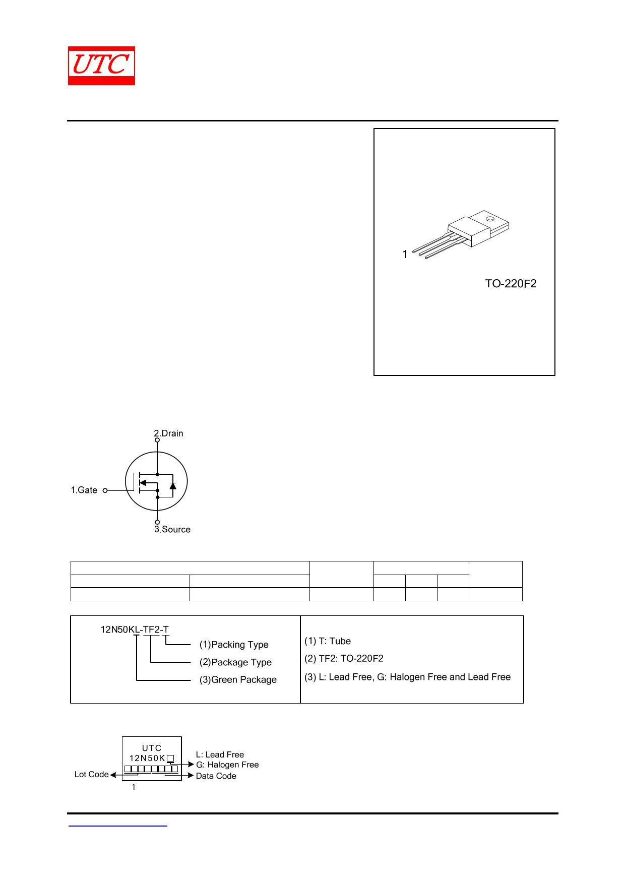 12N50K-MT datasheet